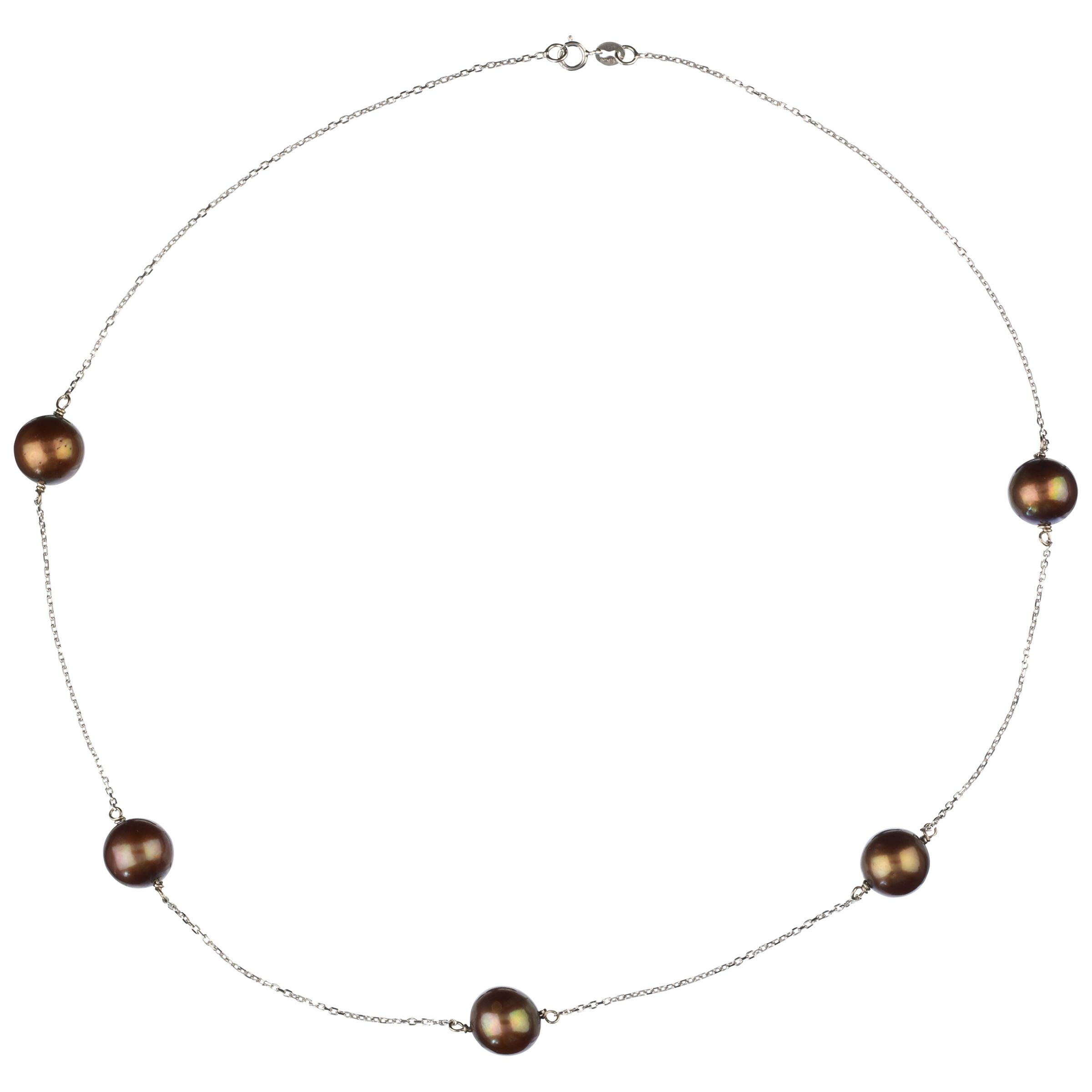 Elizabeth Freshwater Pearl Necklace, Chocolate