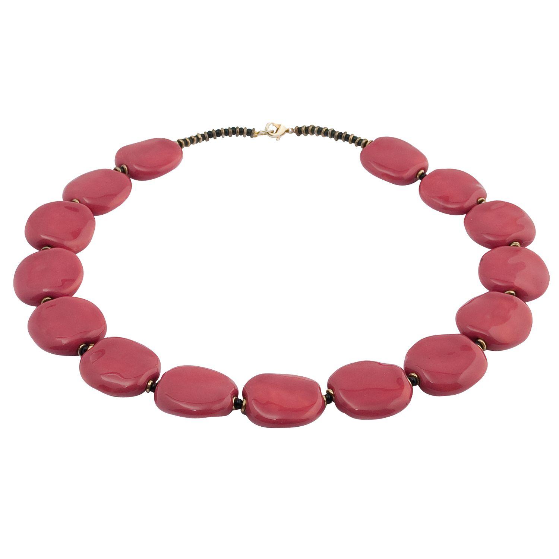 Kazuri Pita Pat Rose Pink Necklace
