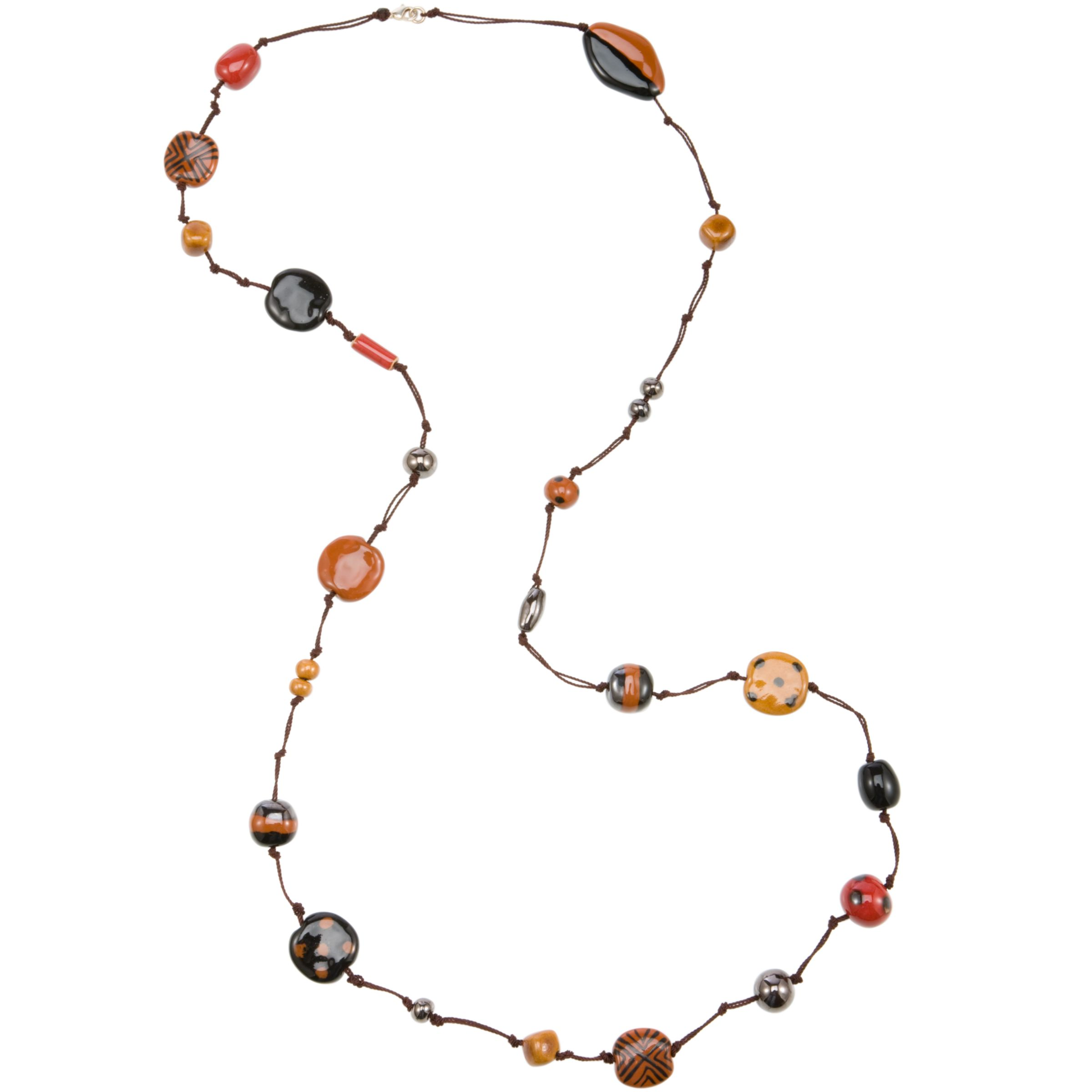Kazuri Savanna Kenyan Fairtrade Ceramic Bead Gabra Necklace