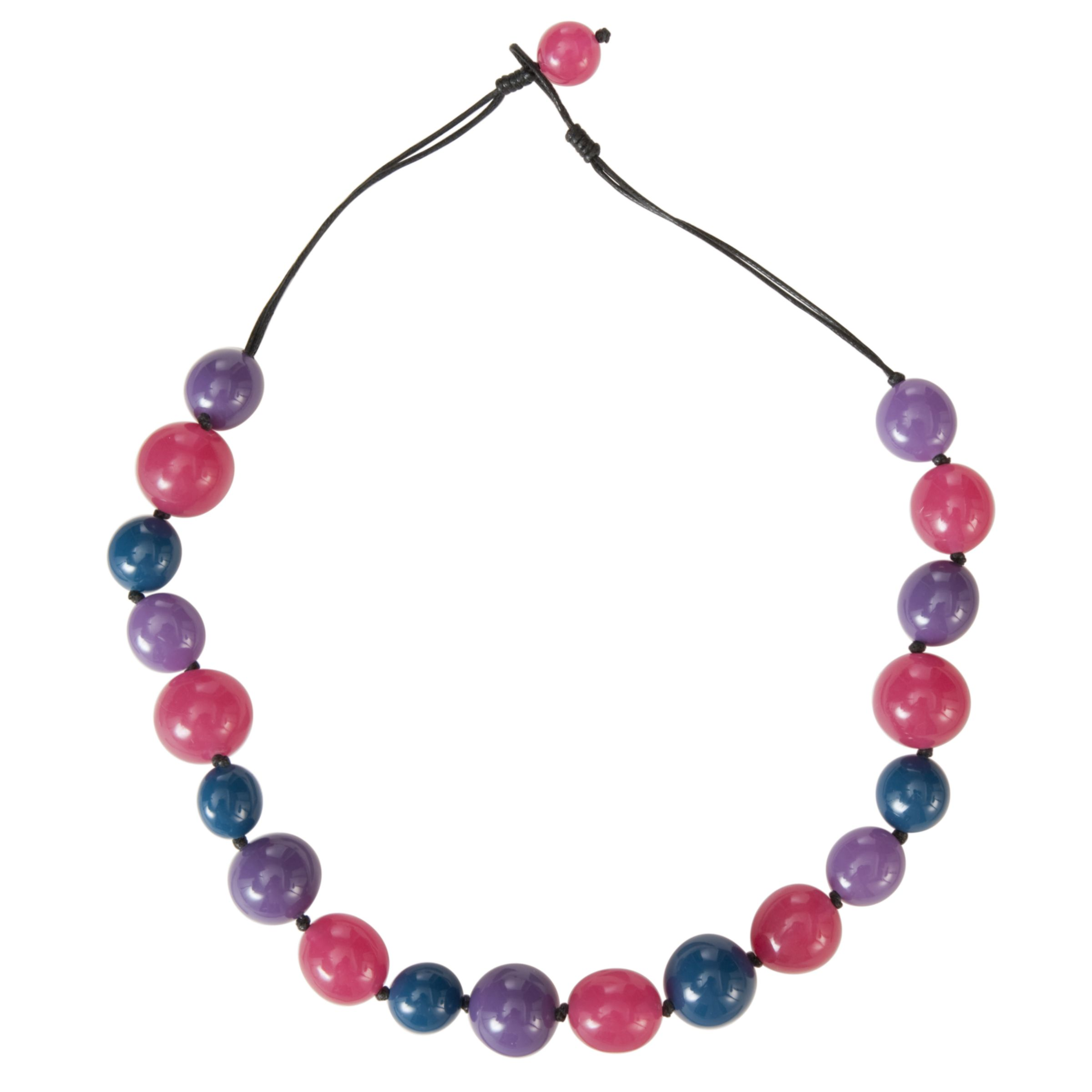 John Lewis Women Polished Jelly Bead Row Necklace