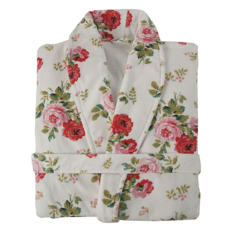 Cath Kidston Antique Rose Bath Robe, White
