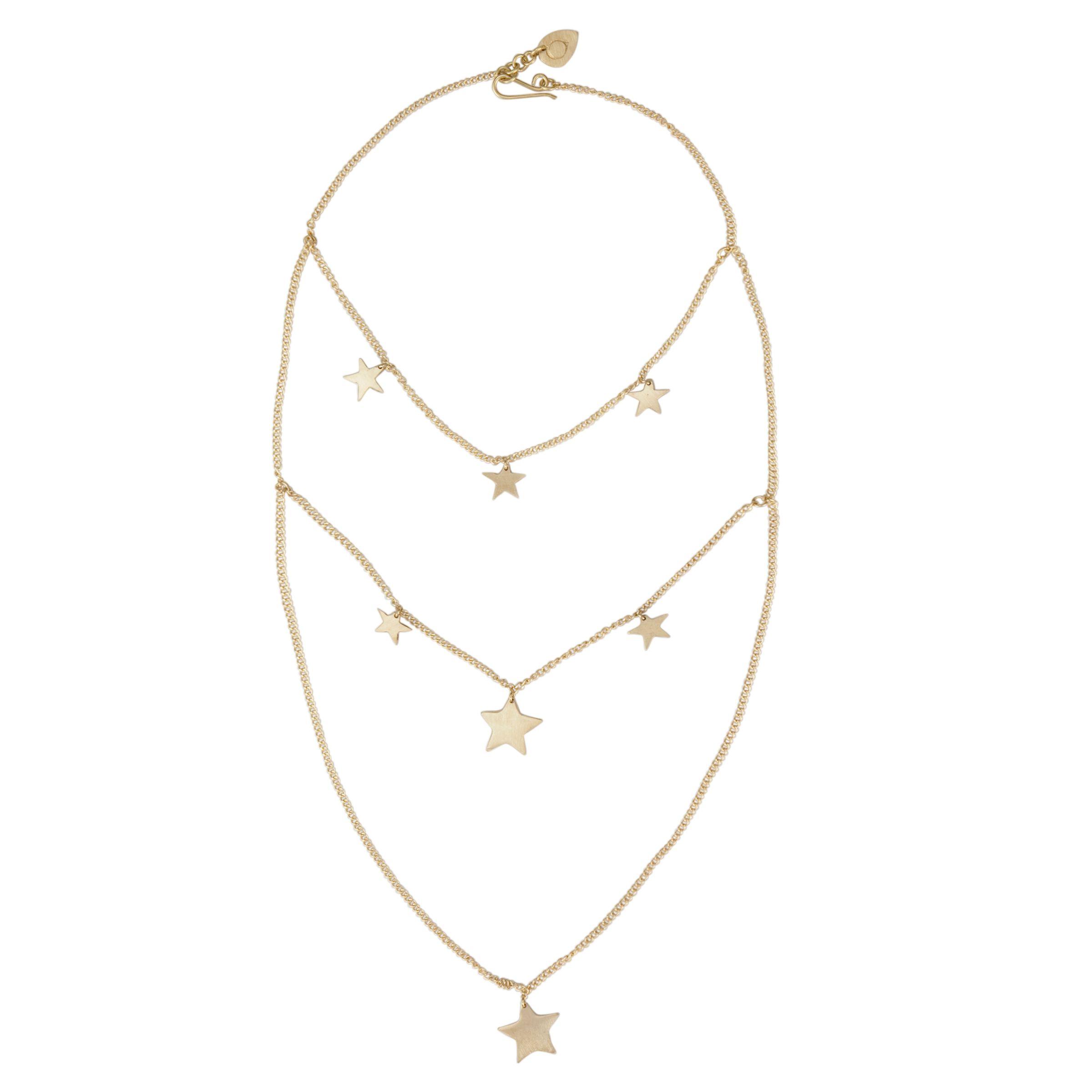 Made Nyota Net Brass Necklace