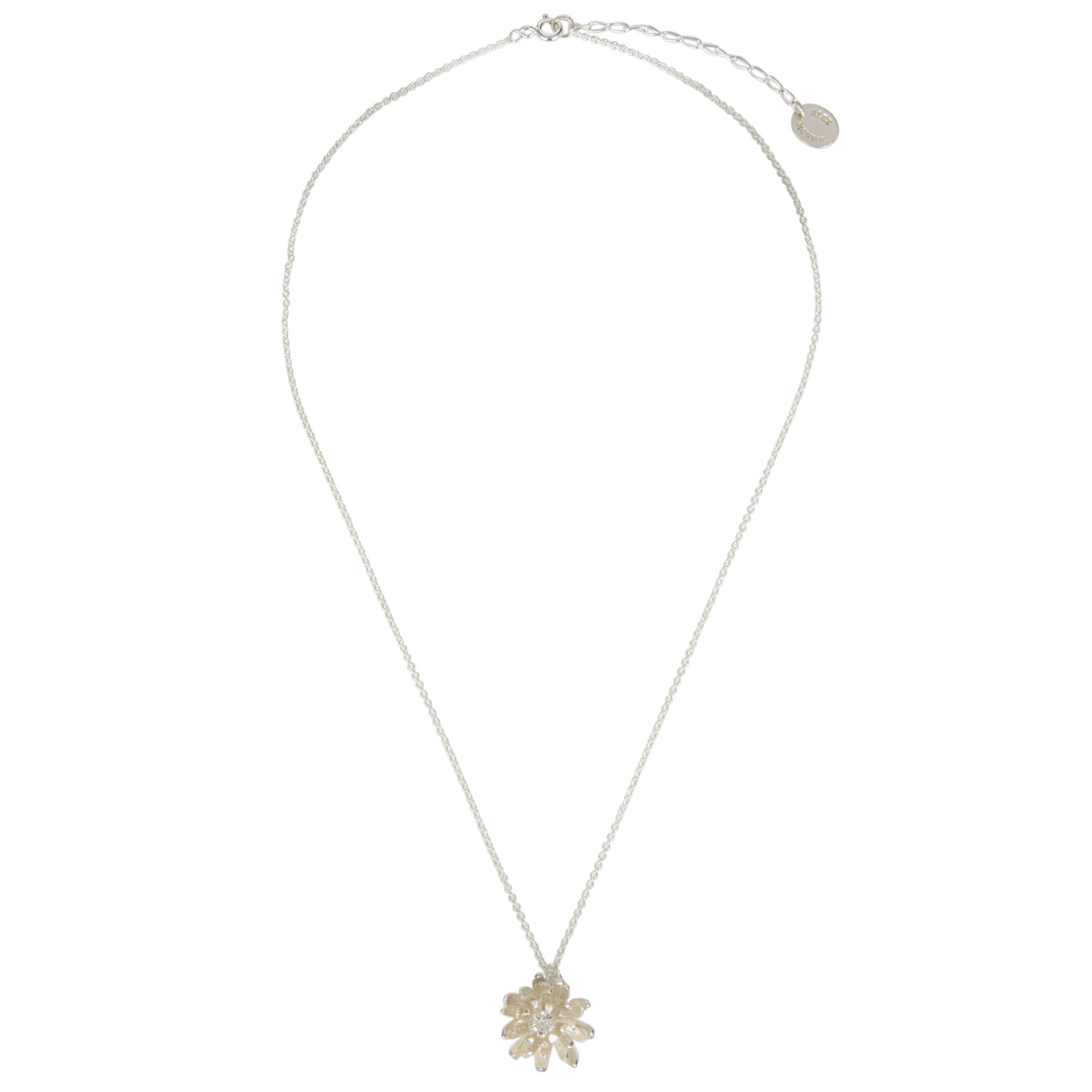 Alex Monroe Large Chrysanthemum Flower Necklace, Silver