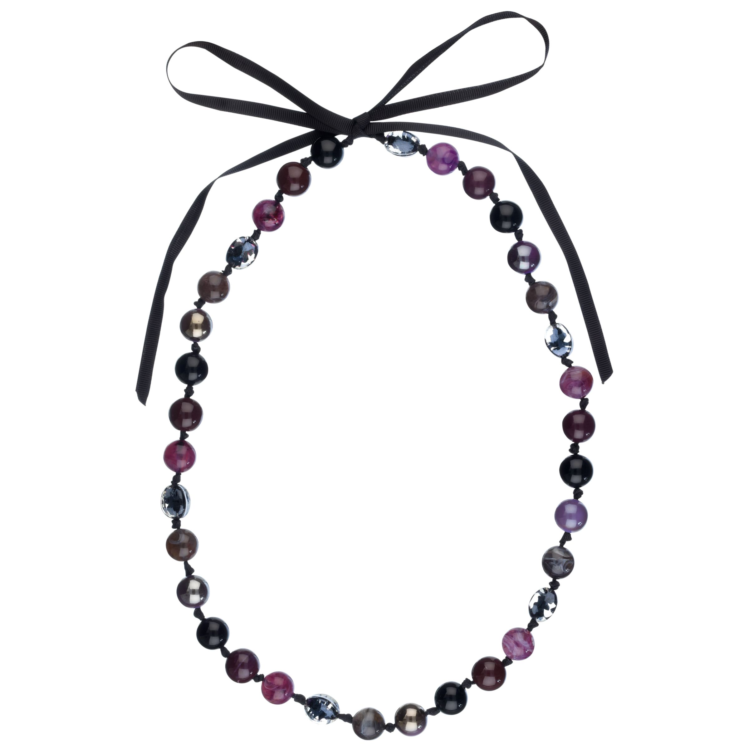 John Lewis Women Long Multi-Colour Bead Necklace