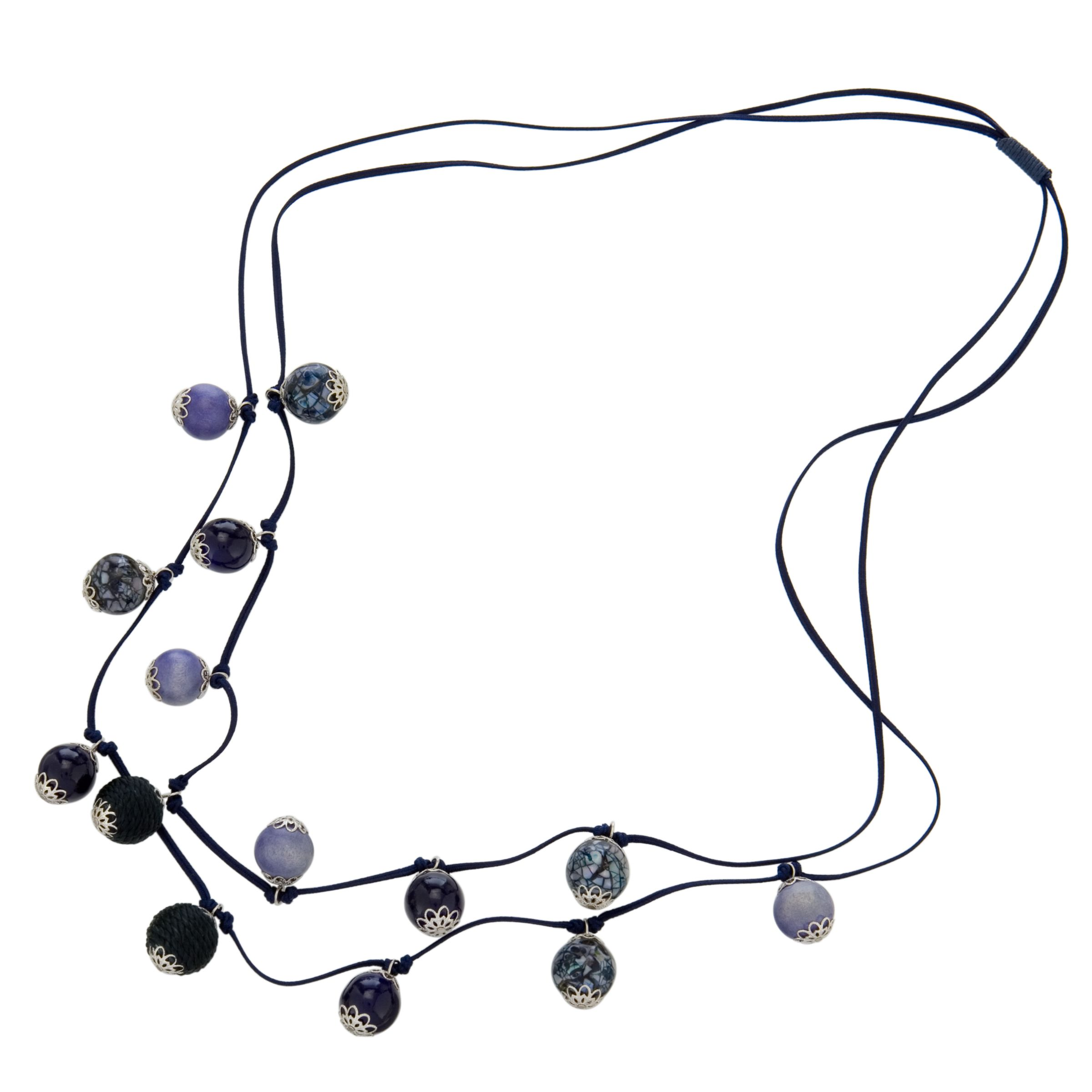 John Lewis Women Double String Mixed Bead Necklace