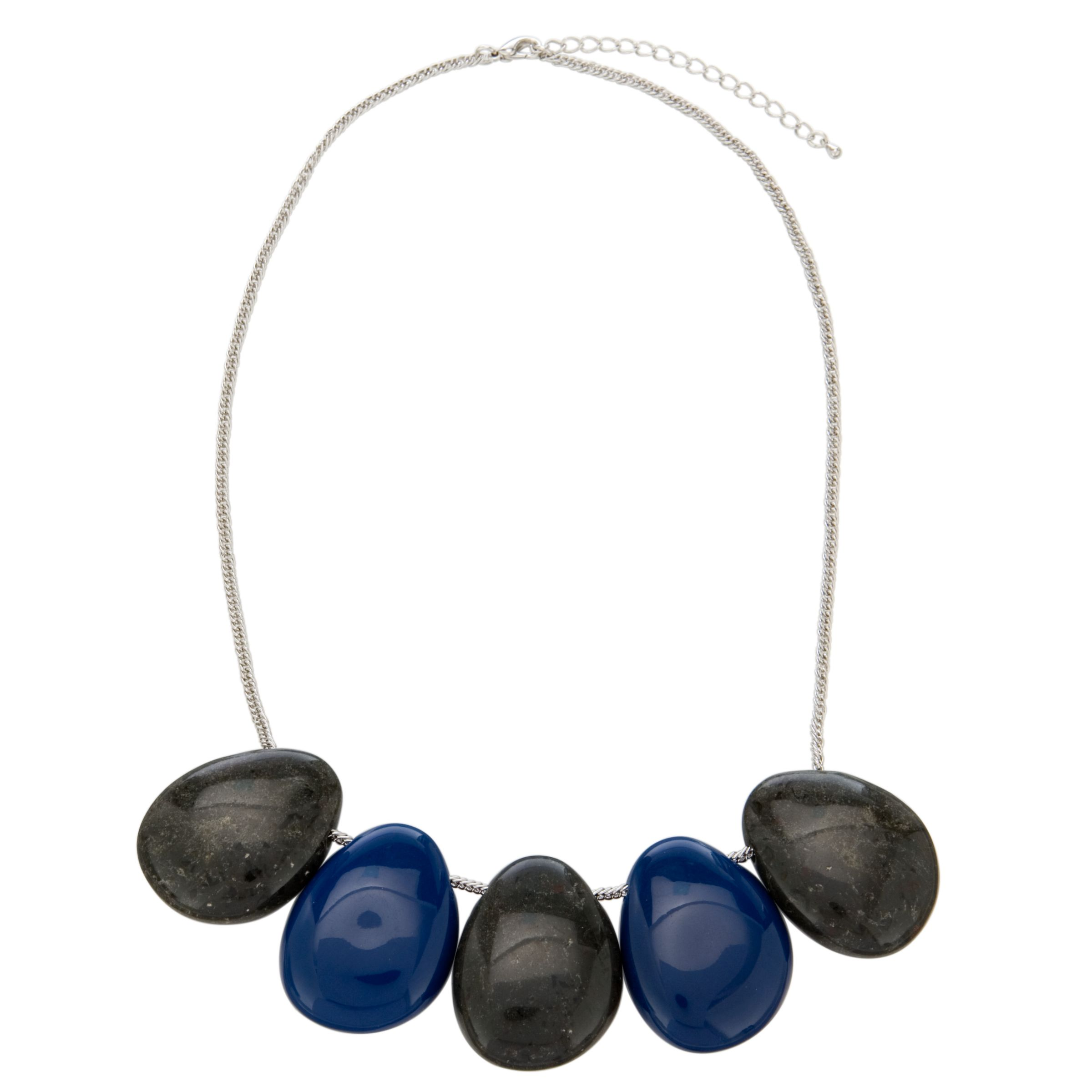 John Lewis Women Nordic Smooth Pebble Short Necklace, Black/Blue