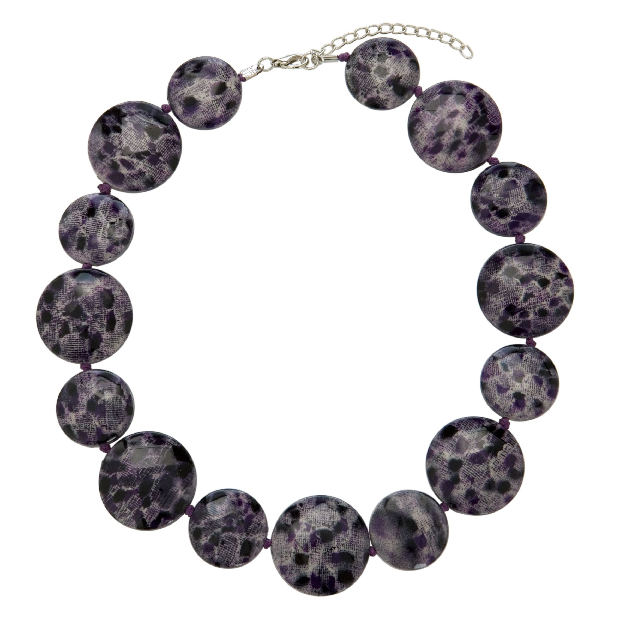 John Lewis Women Animal Bead Necklace, Purple