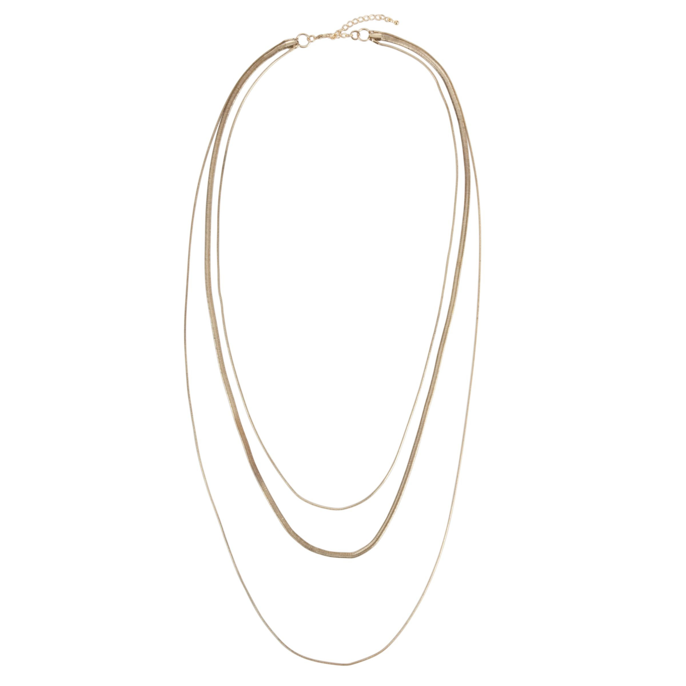 John Lewis Women Gold Three Strand Fine Snake Chain