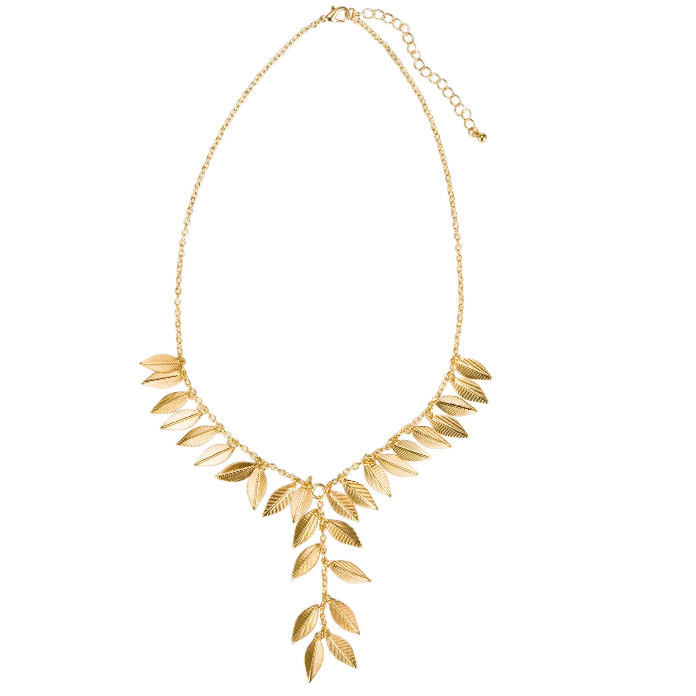 John Lewis Nordic Gold Coloured Leaf Necklace