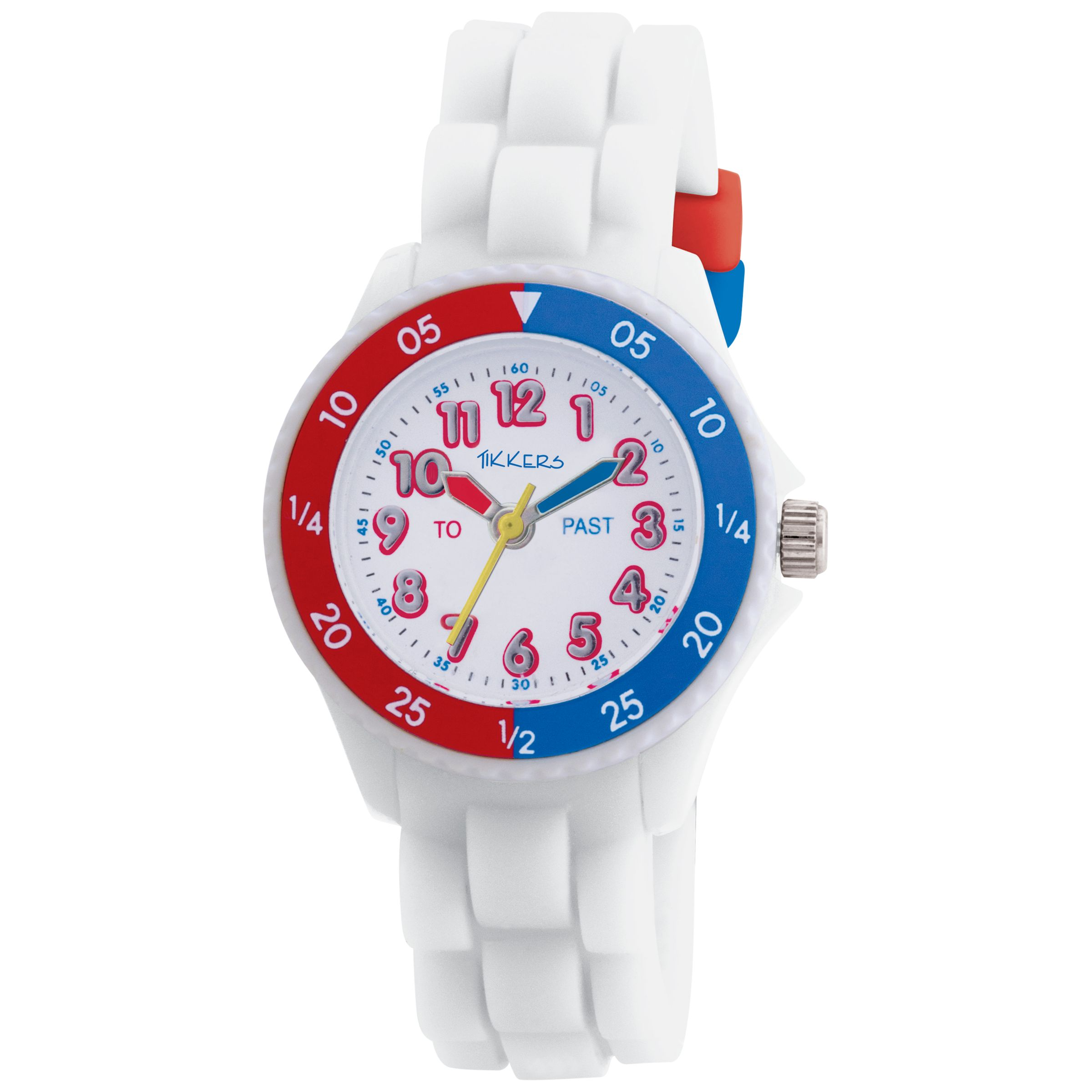 Tikkers TK001 Kids Time Teacher White Dial Rubber Strap Watch