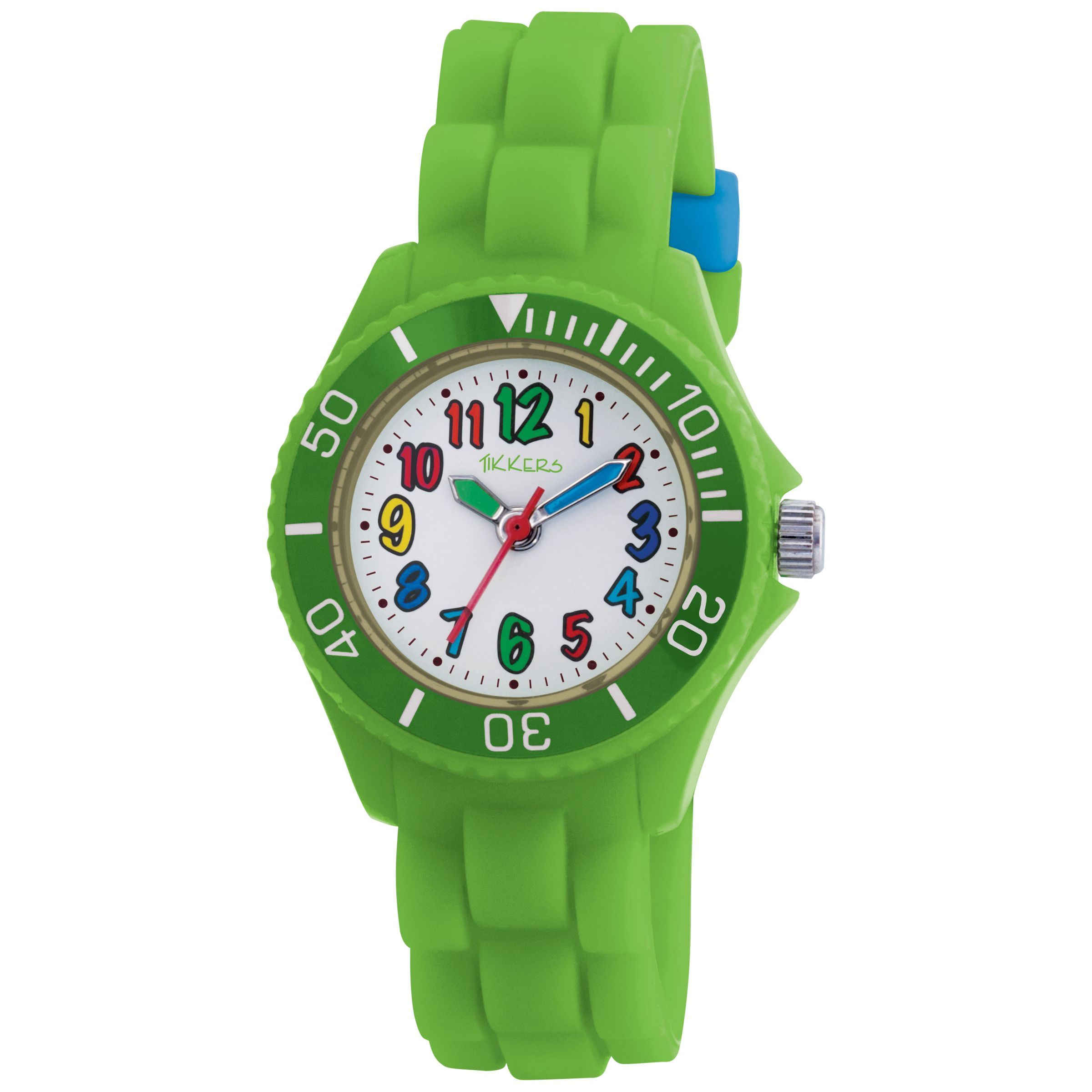 Tikkers TK0014 Kids Rubber Strap Watch, Green