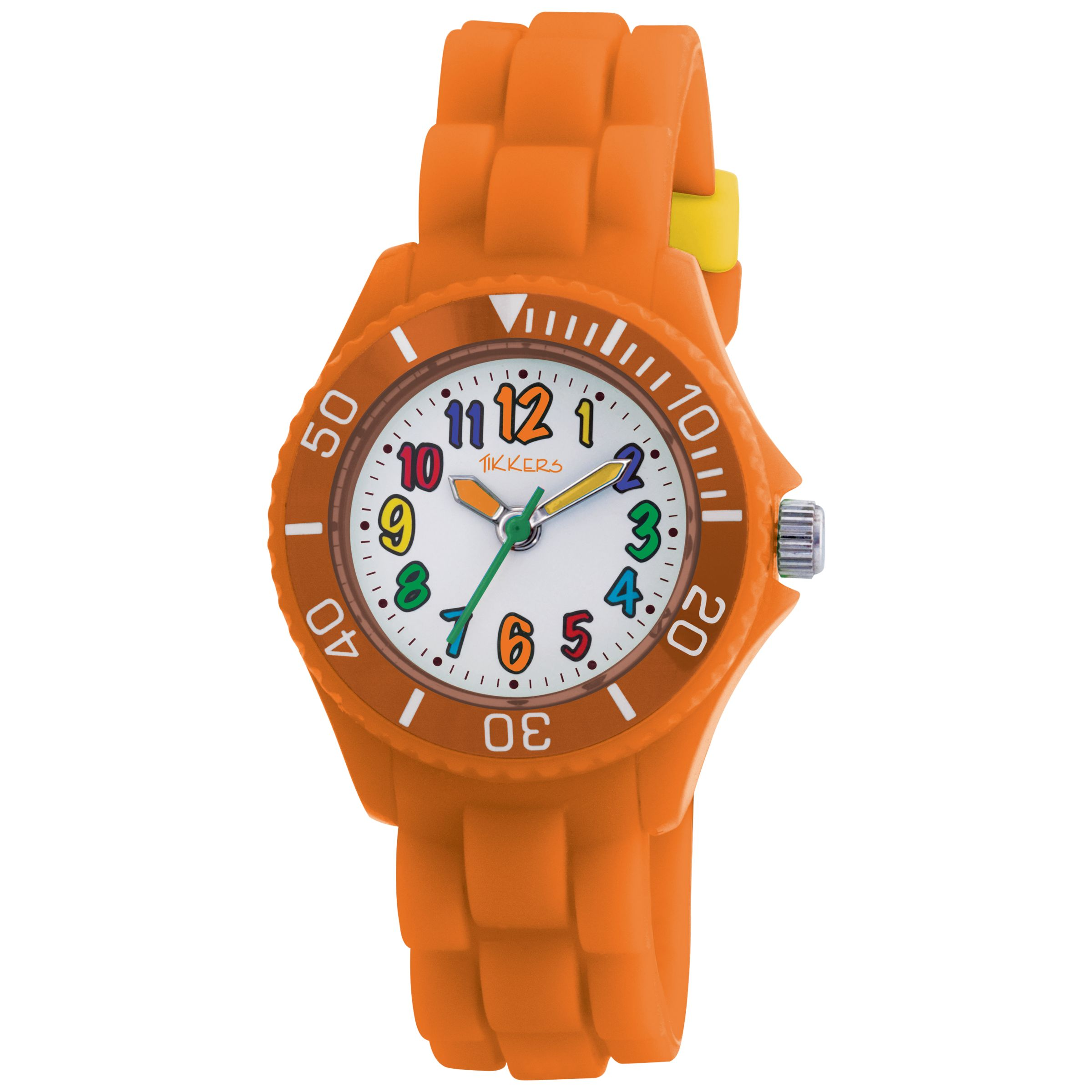 Tikkers TK0015 Kids Rubber Strap Watch, Orange