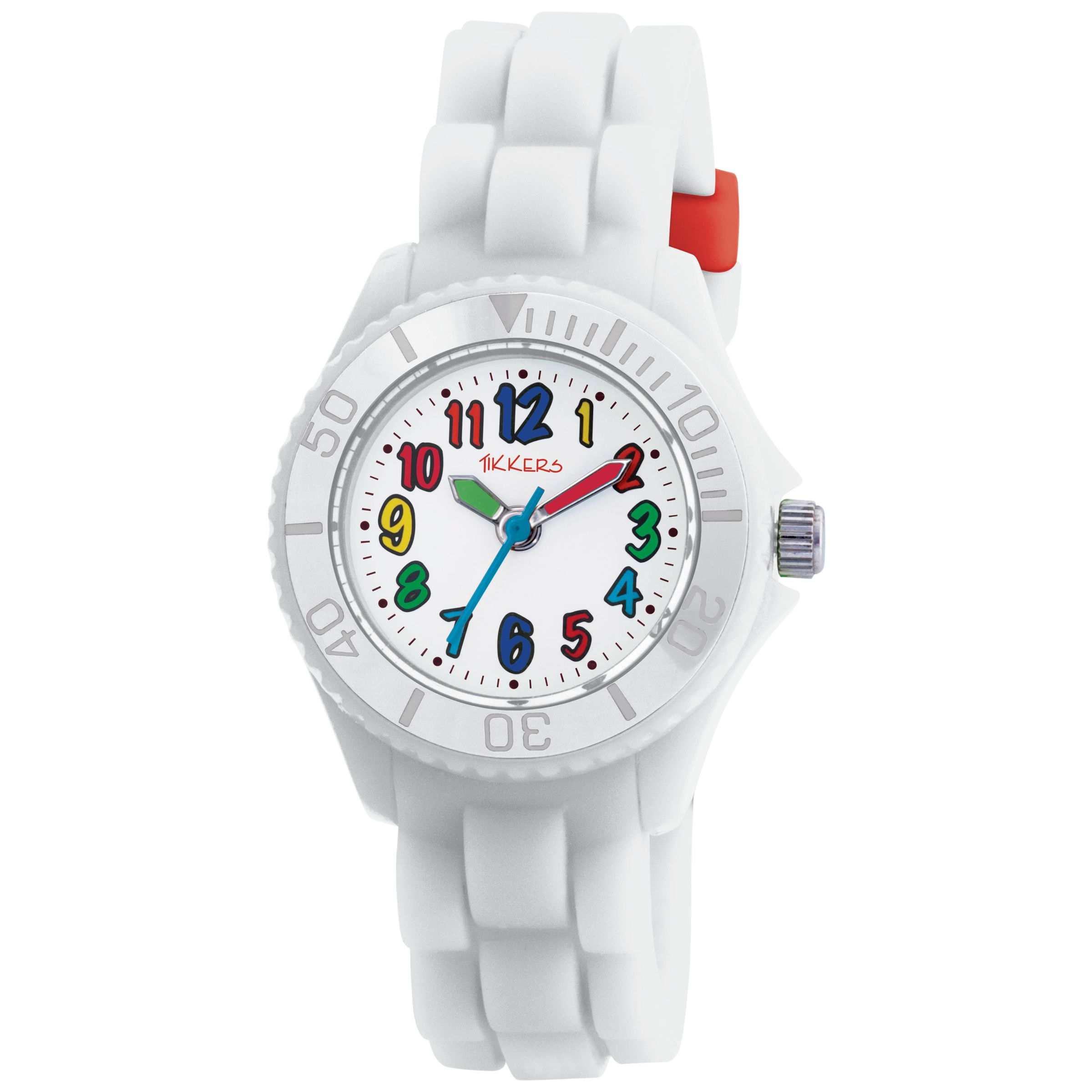 Tikkers TK0017 Kids Rubber Strap Watch, White