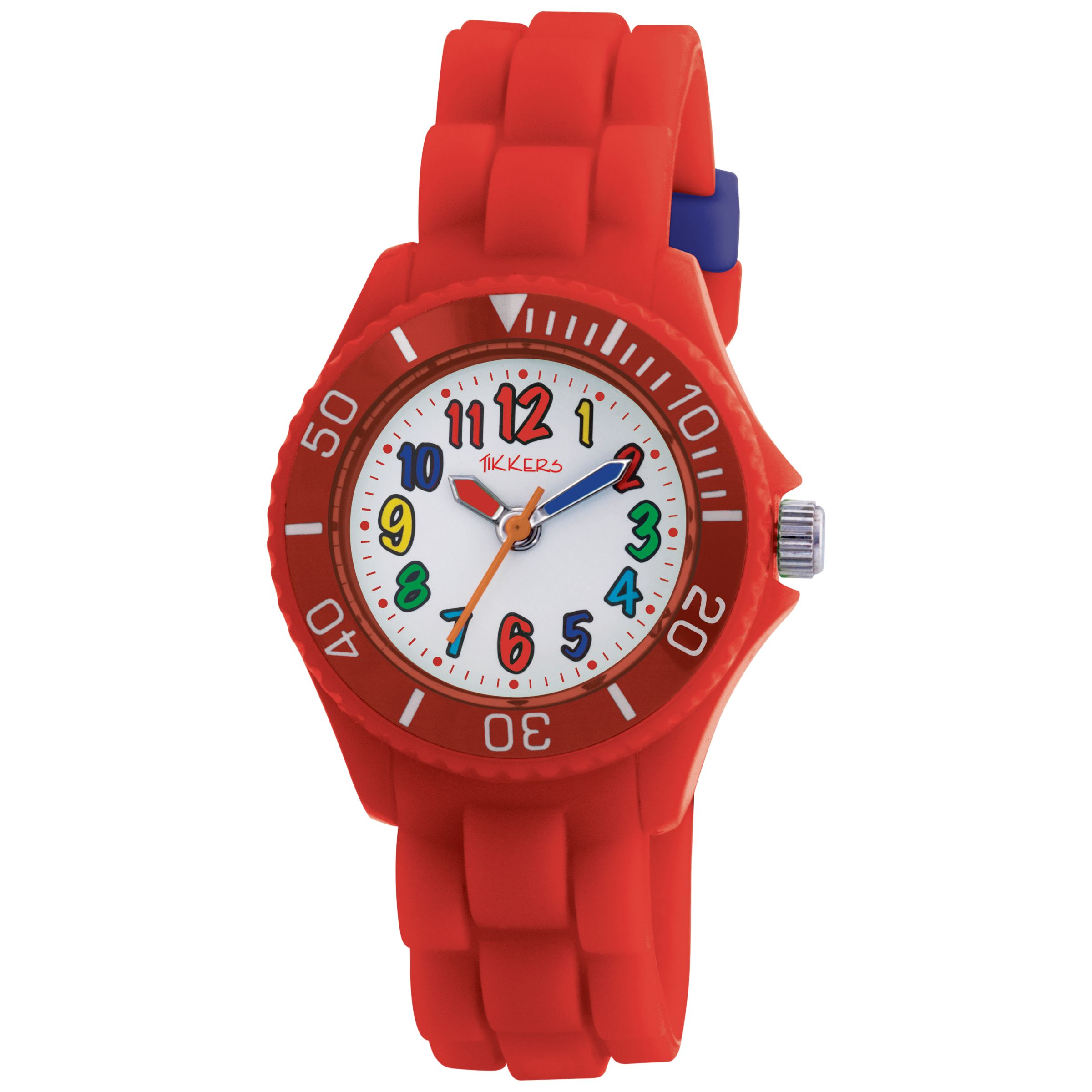 Tikkers TK0018 Kids Rubber Strap Watch, Red