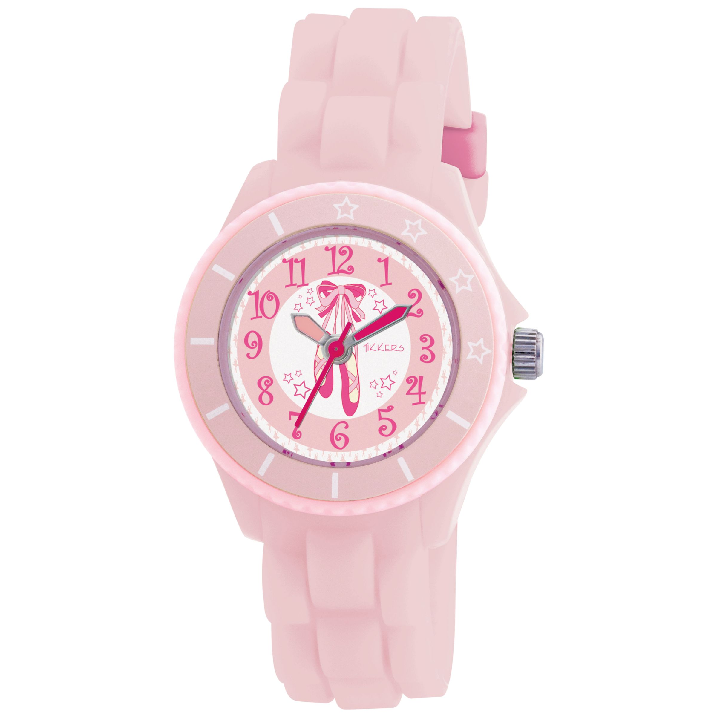 Tikkers TK0019 Kids Ballet Rubber Strap Watch, Pink