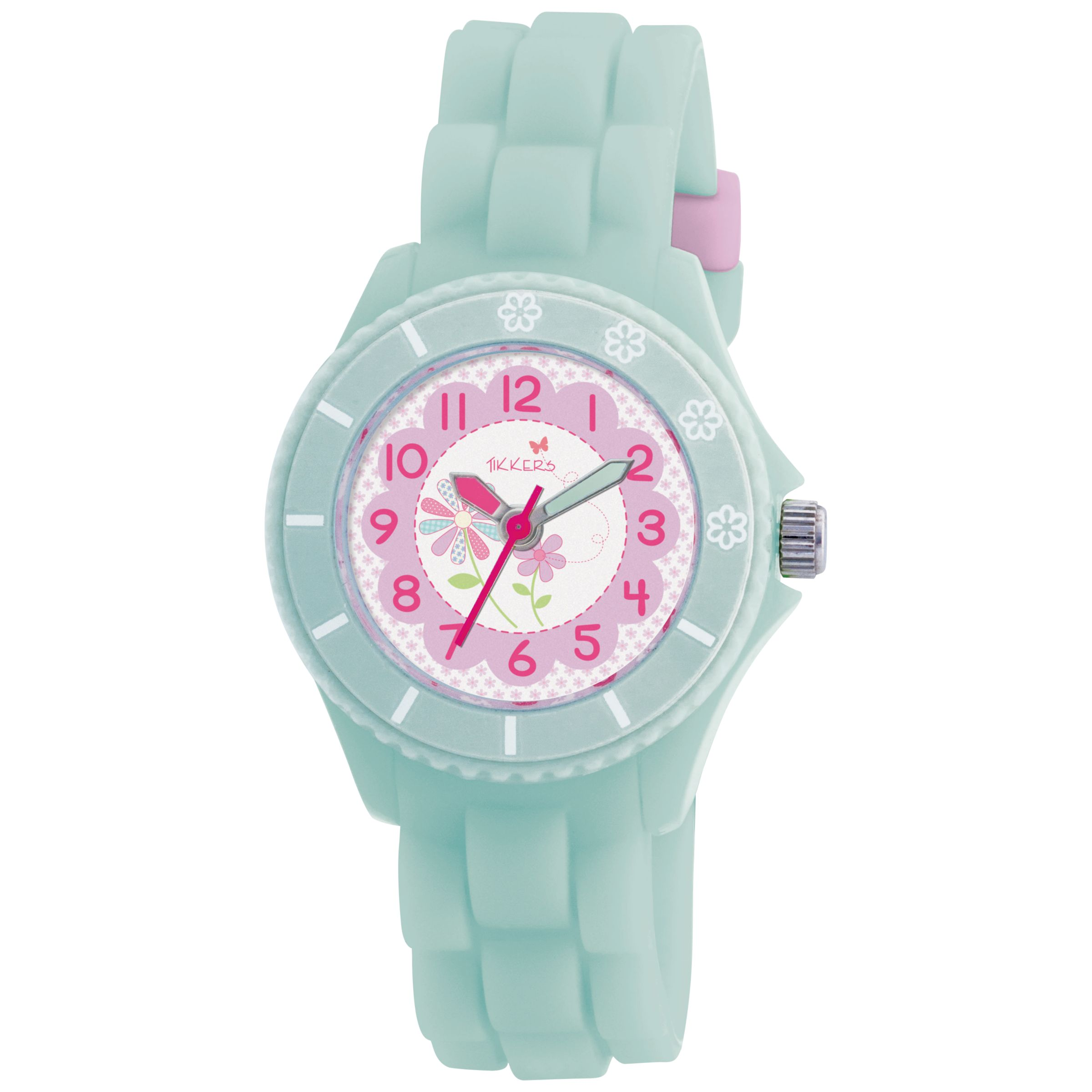 TK0021 Kids Flower Rubber Strap Watch, Teal