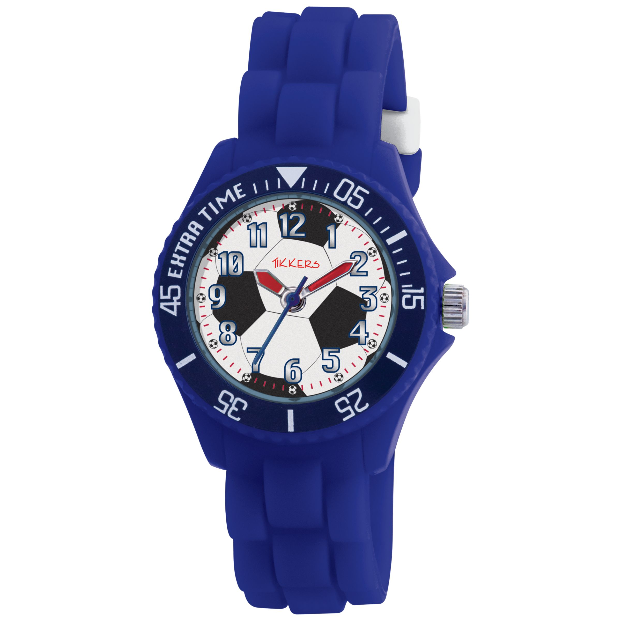 Tikkers TK0025 Kids Football Rubber Strap Watch, Blue