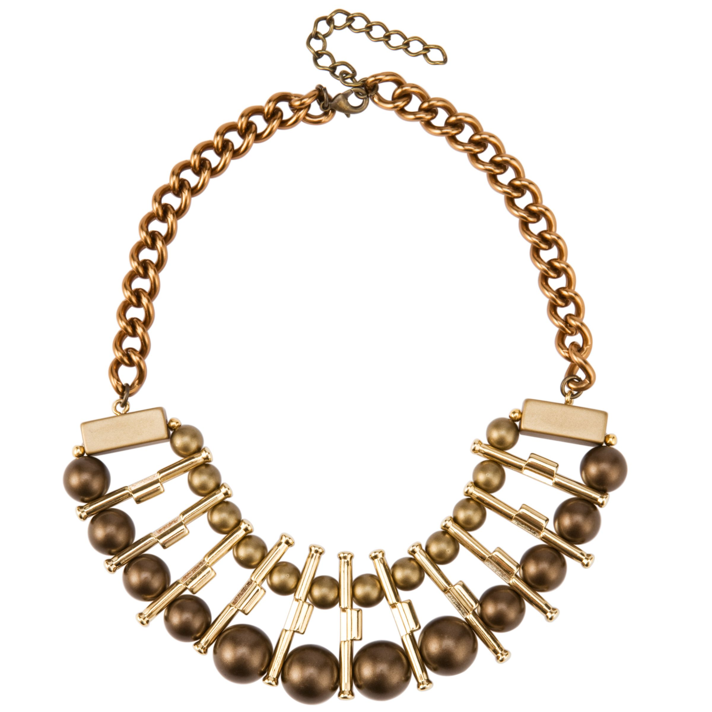 COLLECTION, John Lewis Women Bead and Bar Statement Necklace