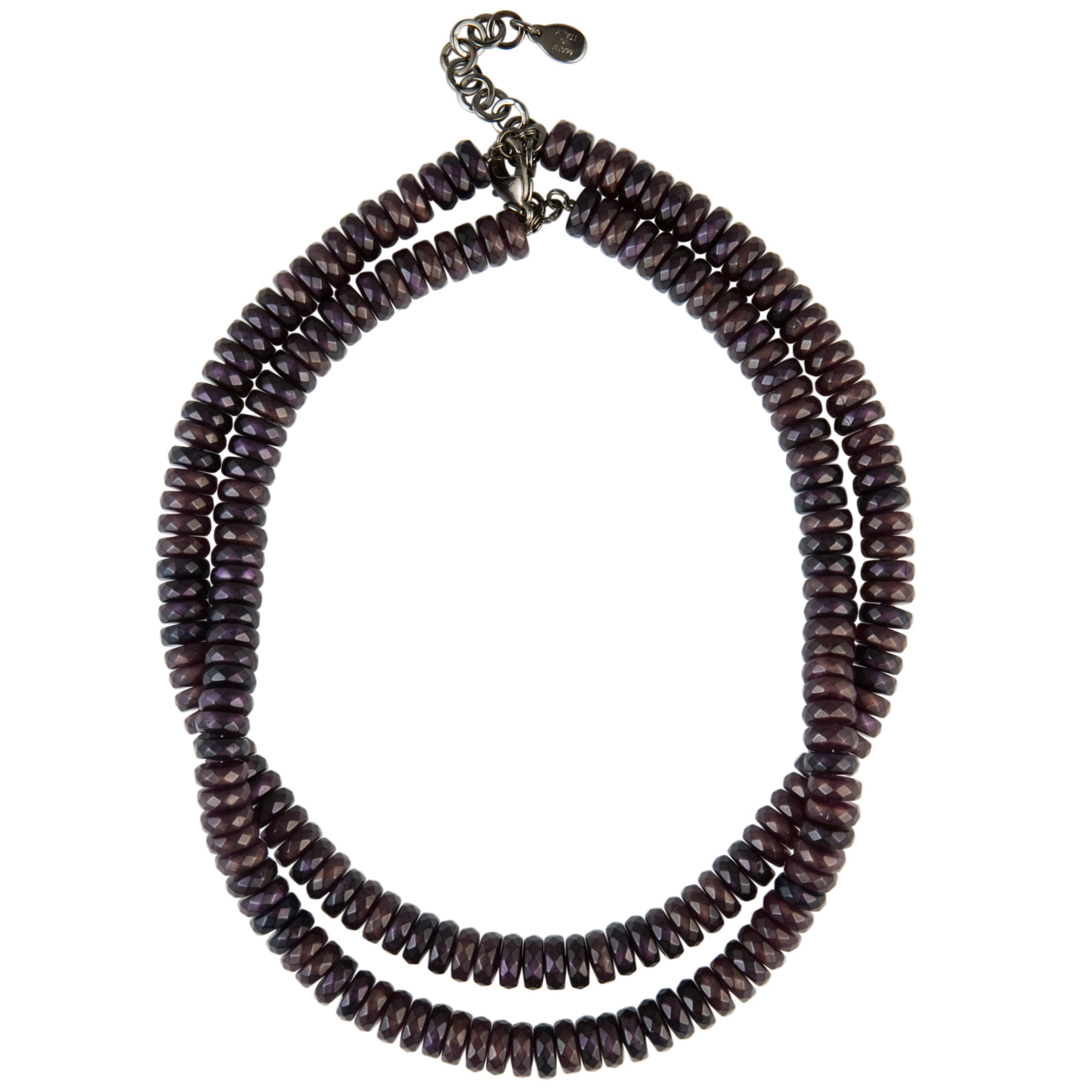 COLLECTION, John Lewis Women Plum Multi Facet Beaded Necklace