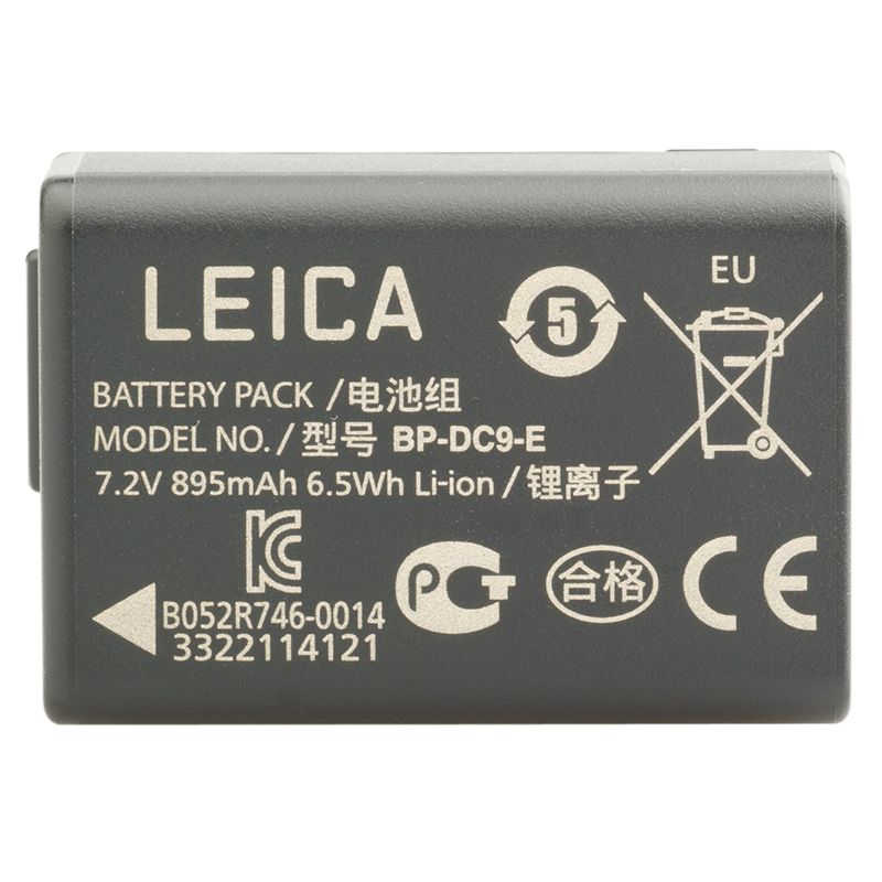 BP-DC9 E Rechargeable Camera Battery for