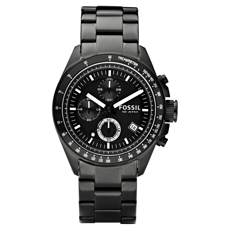 Fossil CH2601 Men's Decker Chronograph Bracelet Watch, Black