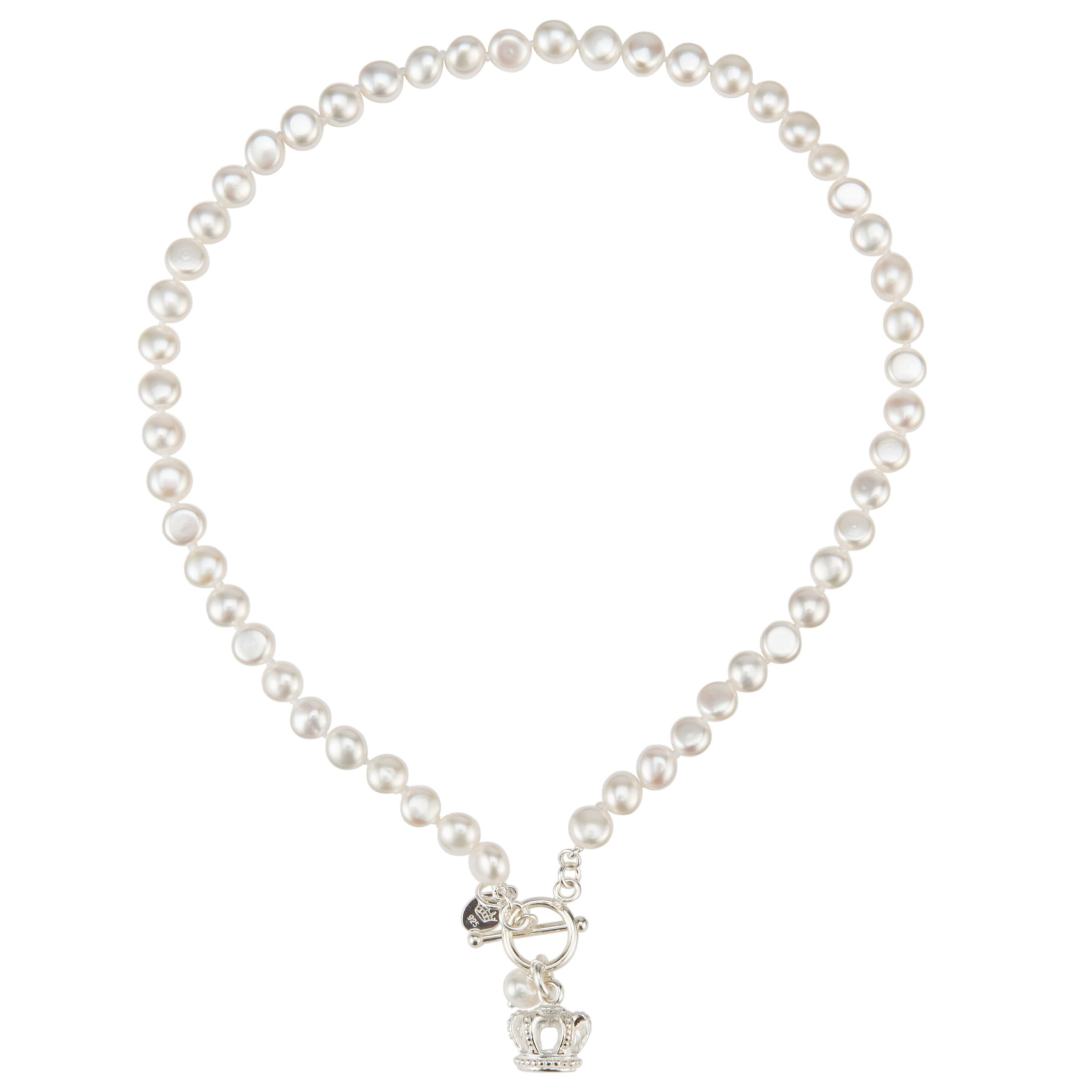 Claudia Bradby Flat Button Pearl Crown Necklace