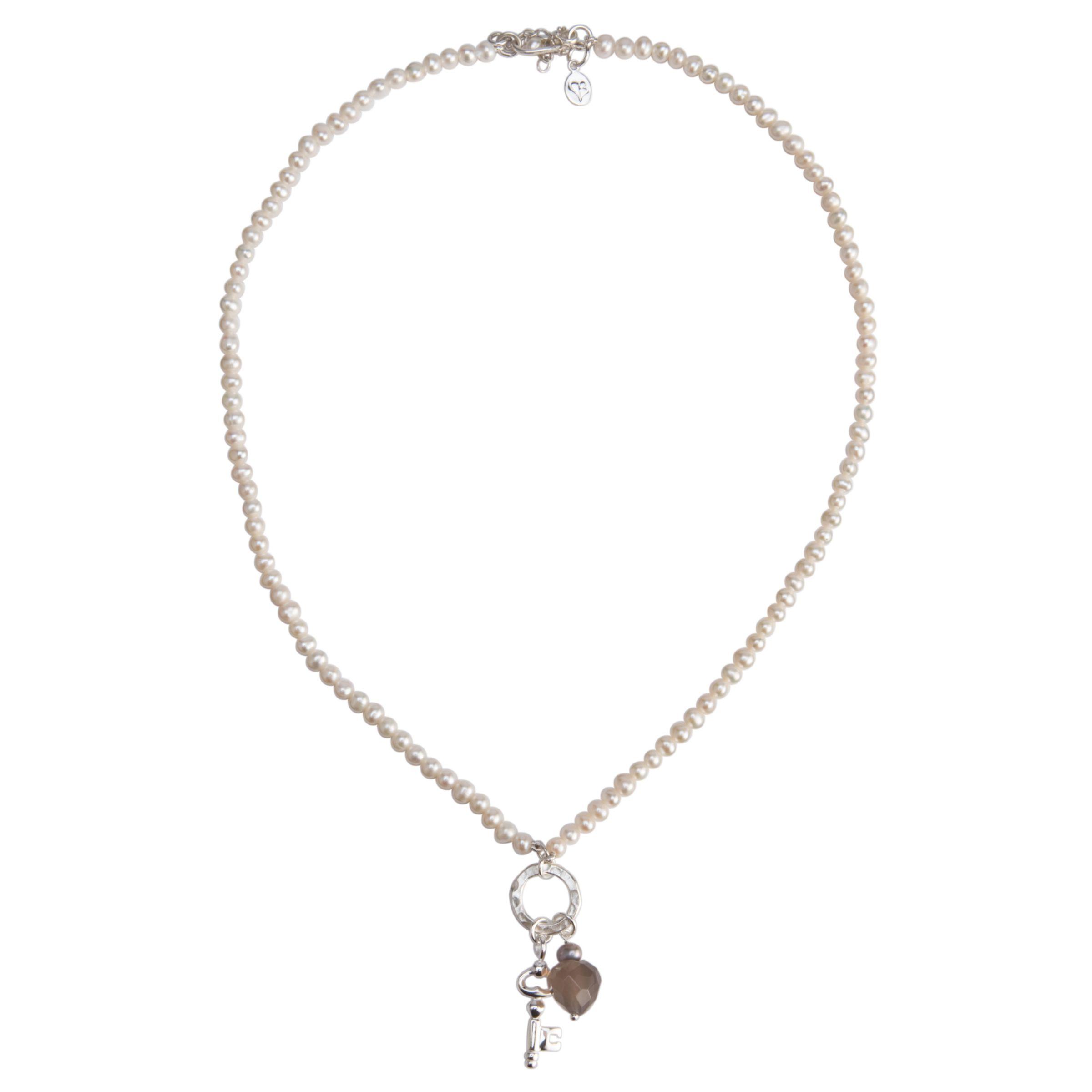 Claudia Bradby Pearl Smalll Key Necklace