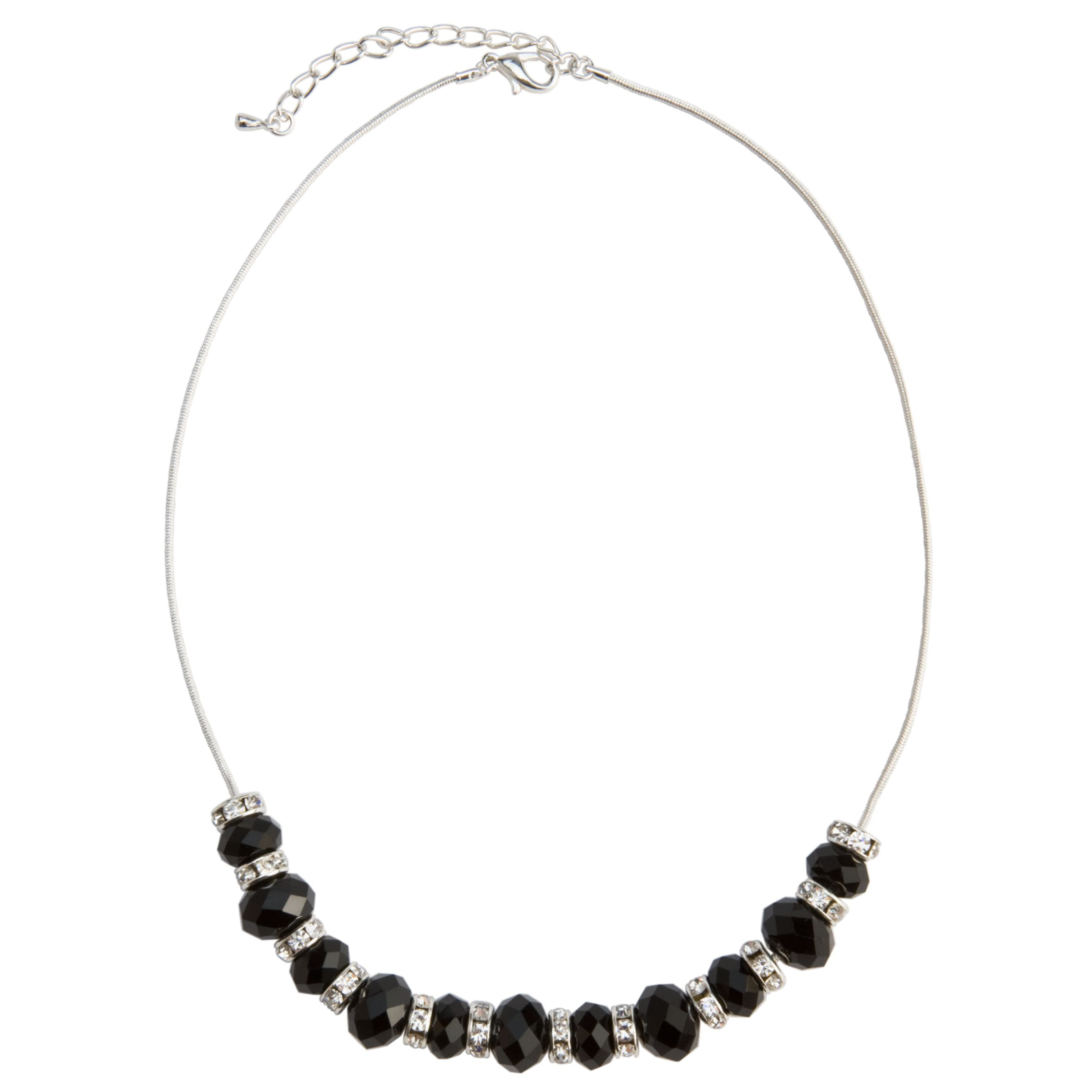 John Lewis Women Jet Crystal Necklace, Black