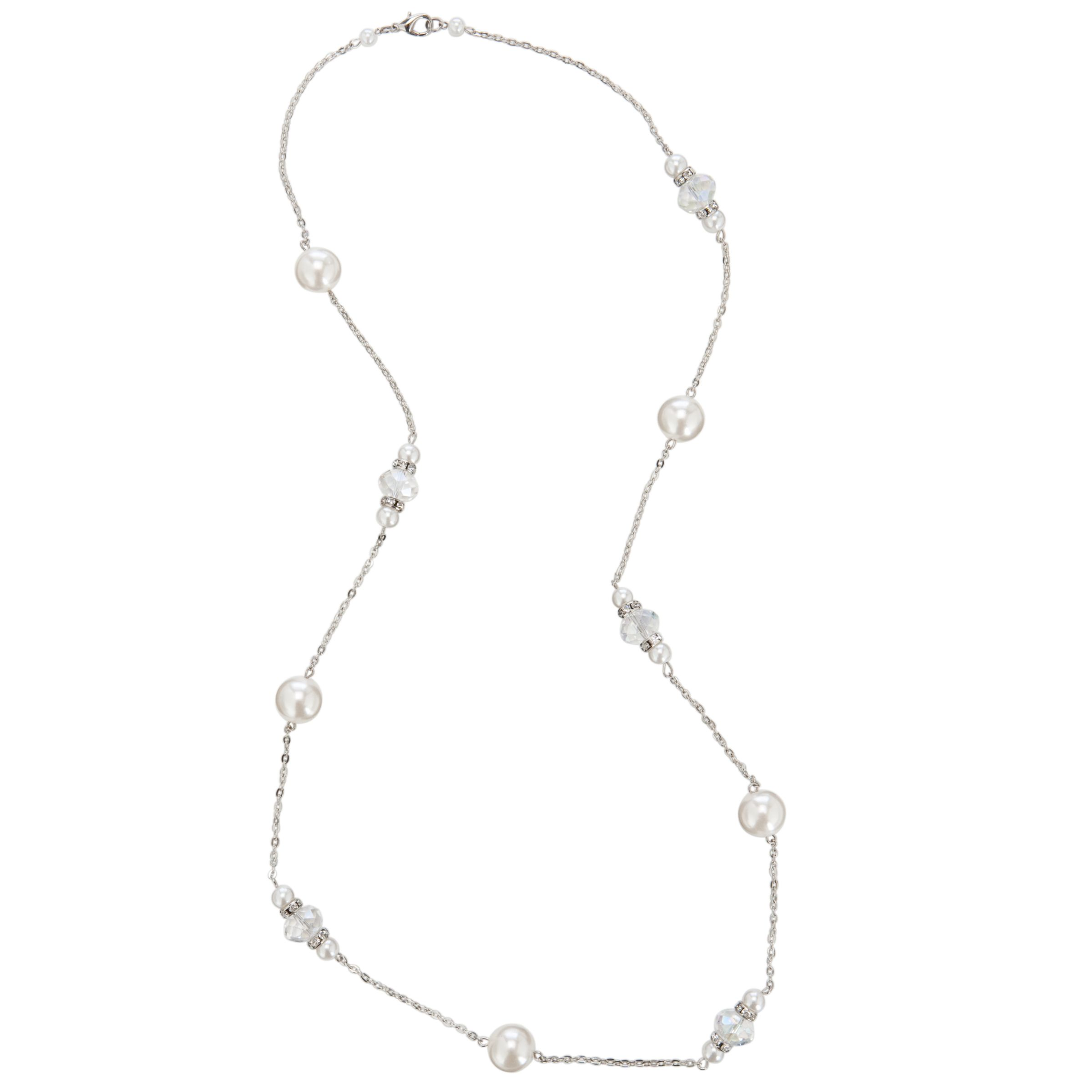 John Lewis Long Space Pearl Facet Bedd Necklace