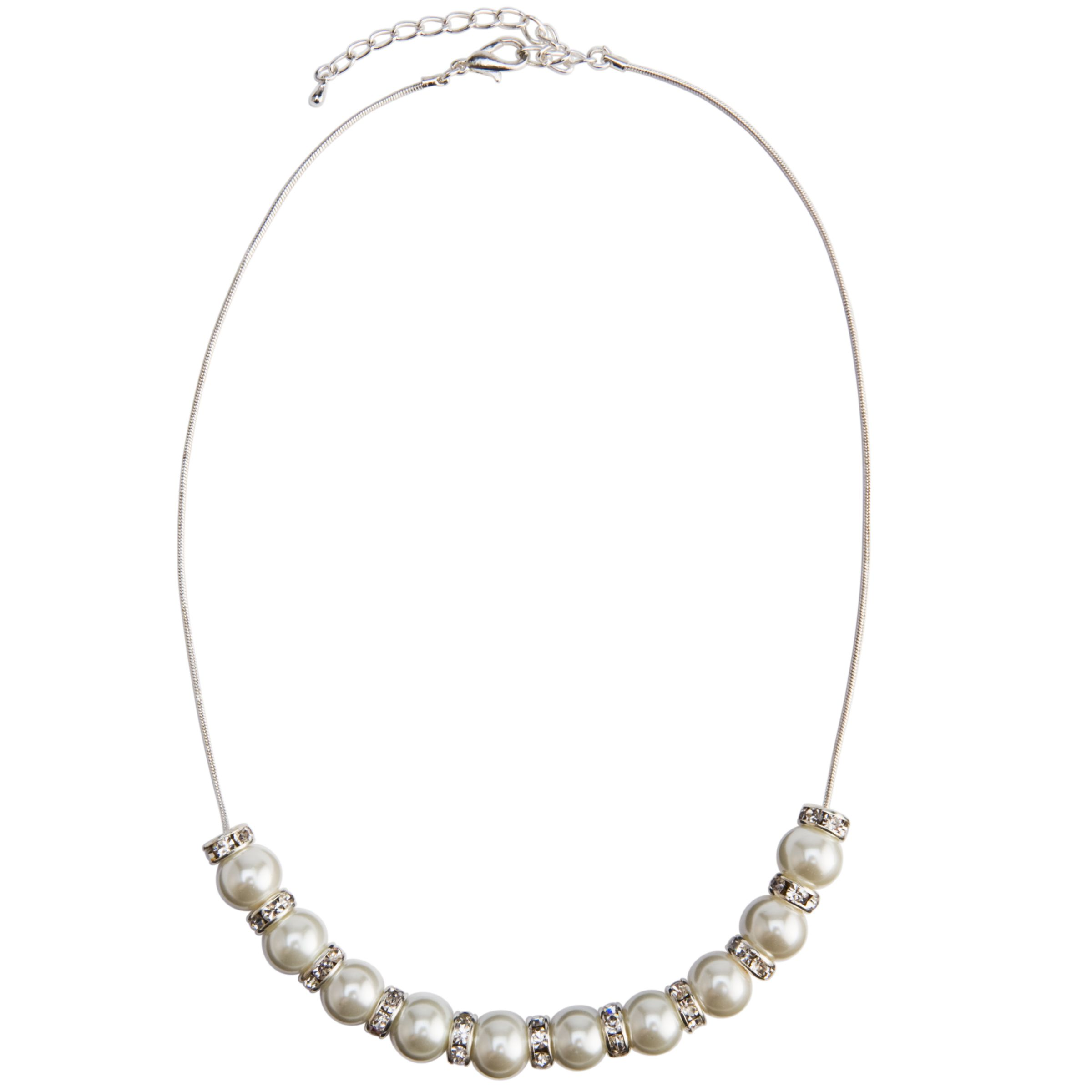 John Lewis Pearl Rondell Necklace, Cream