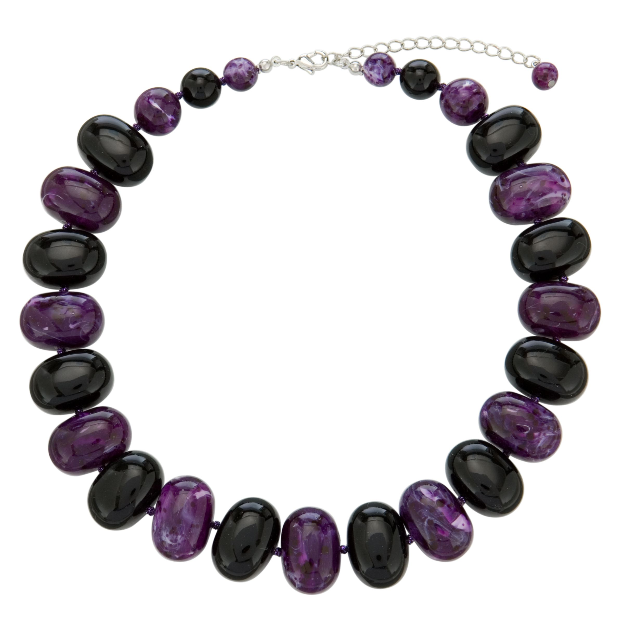 John Lewis Women Potato Bead Necklace, Purple
