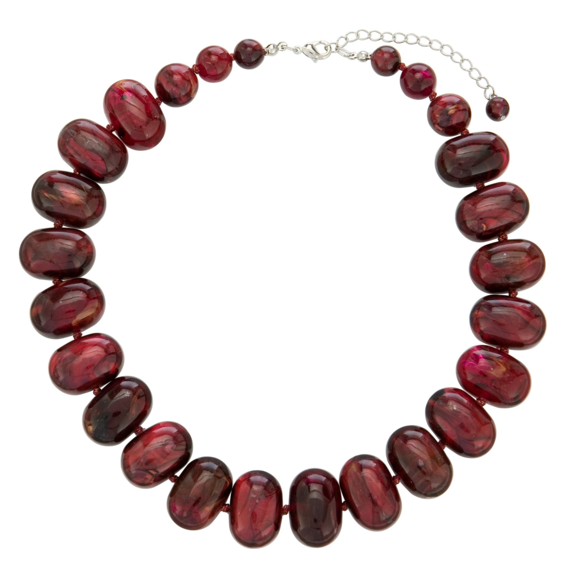 John Lewis Women Potato Bead Necklace, Red