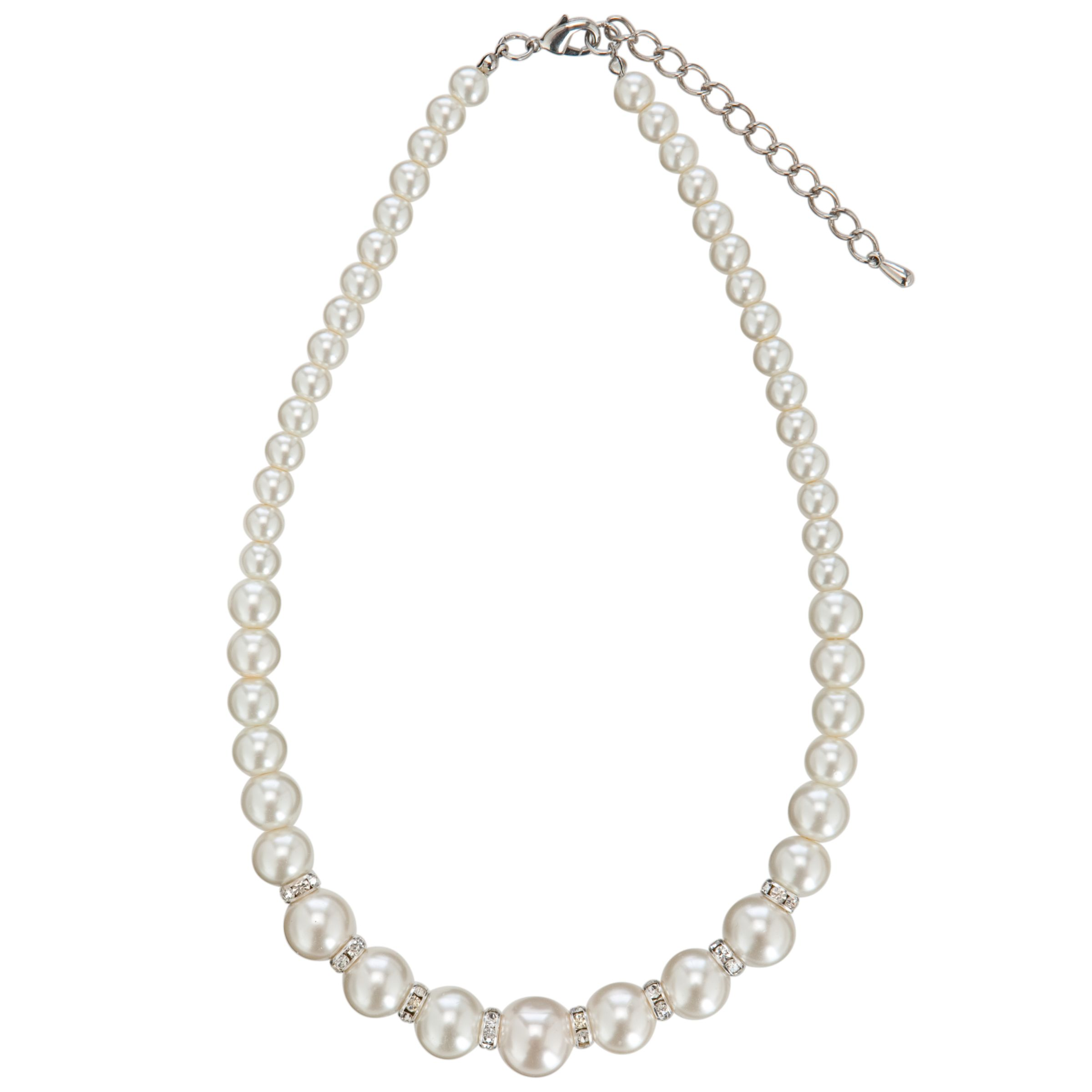 John Lewis Small Graduated Glass Pearl Necklace