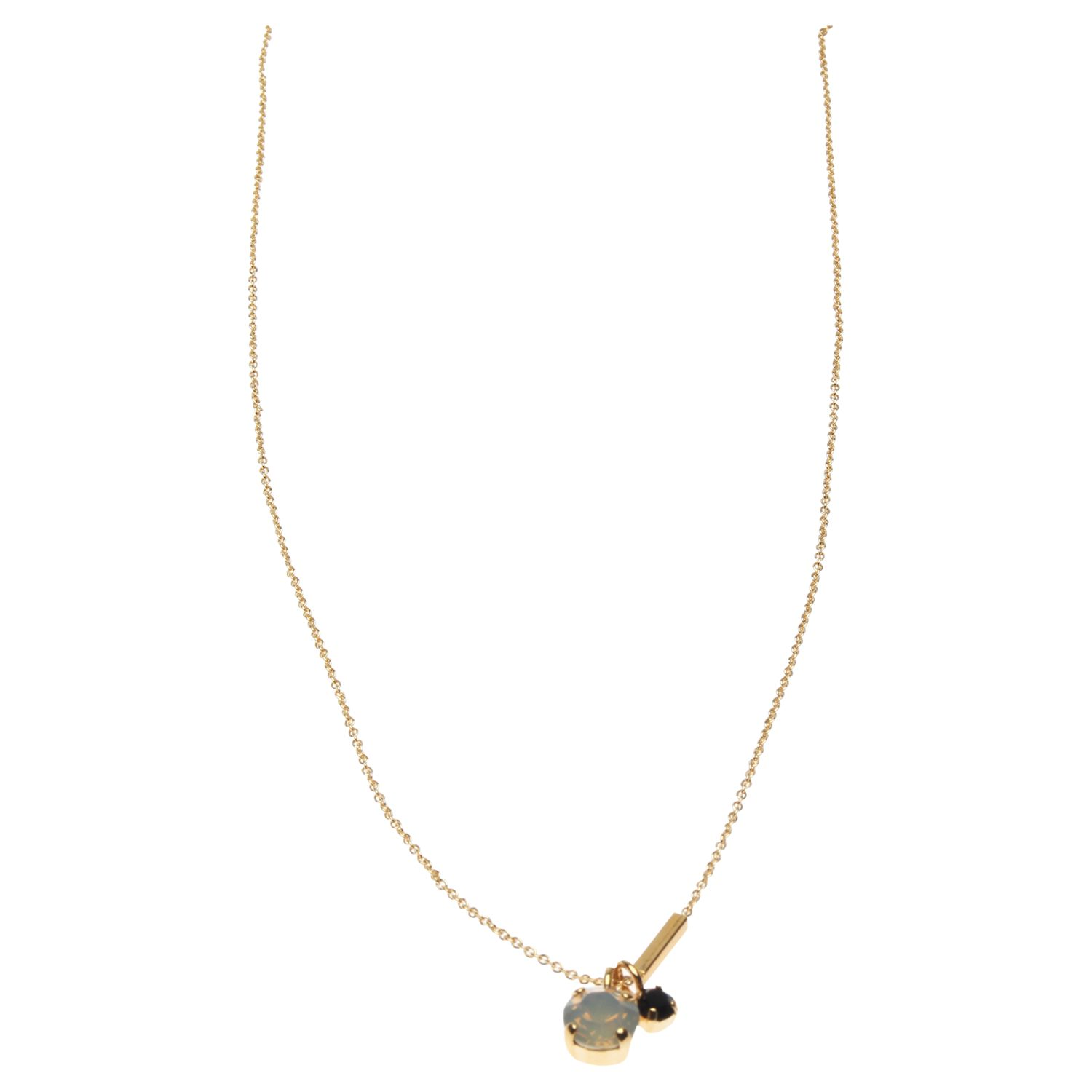 Sabrina Dehoff Crystal Pendant Necklace, Black