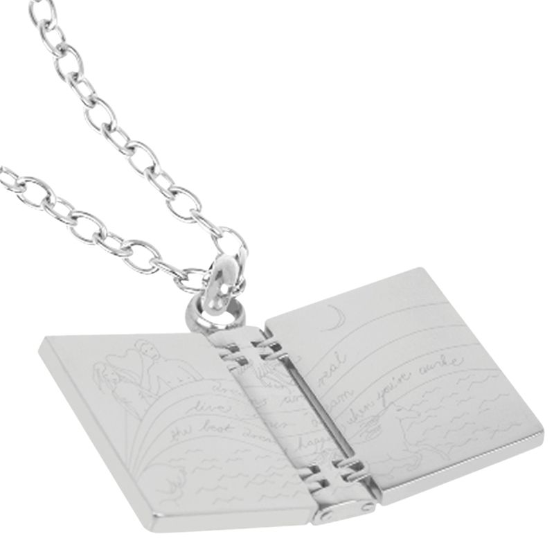 Renaissance Life Book Necklace, Silver