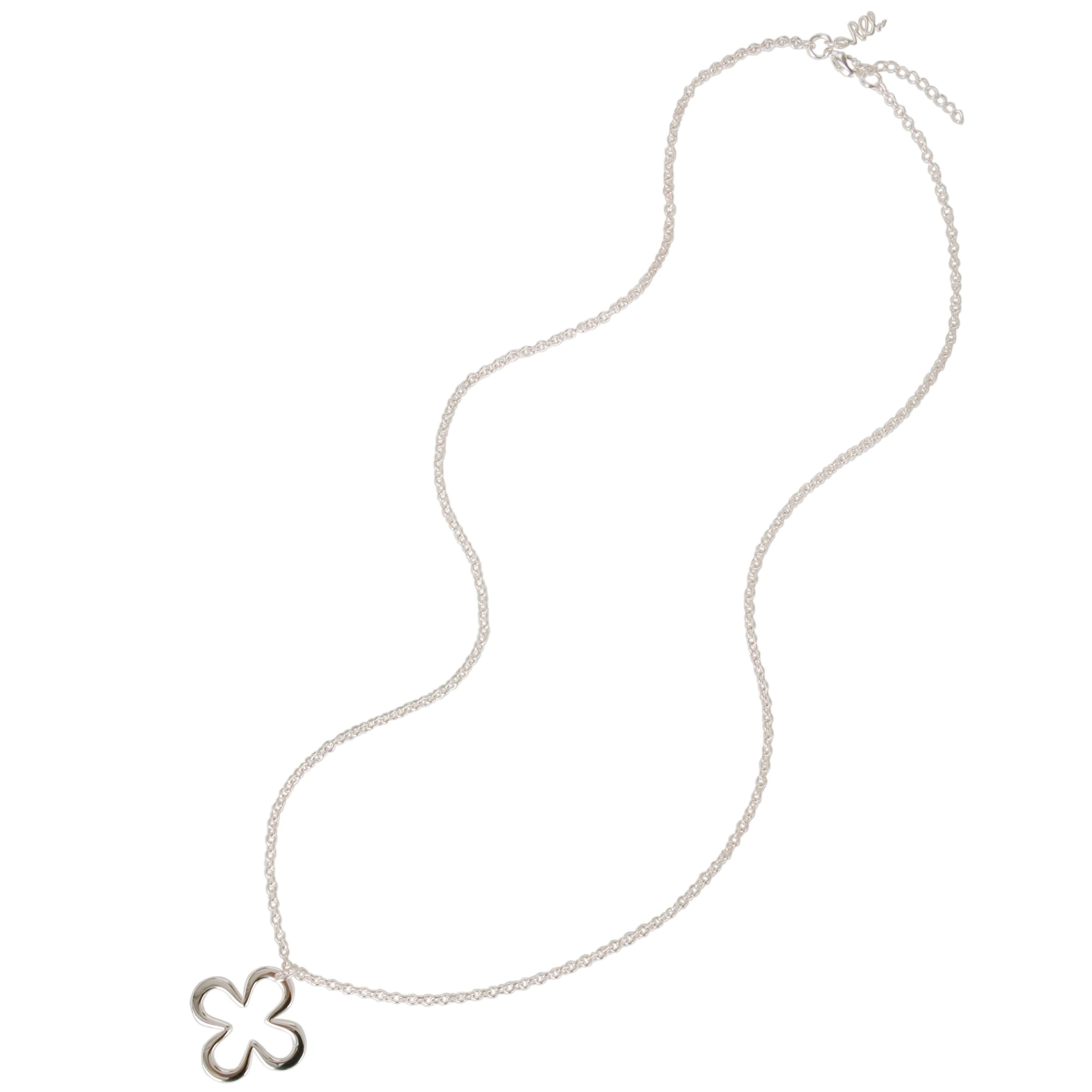 Renaissance Life Double Lucky Charm Single Necklace, Silver