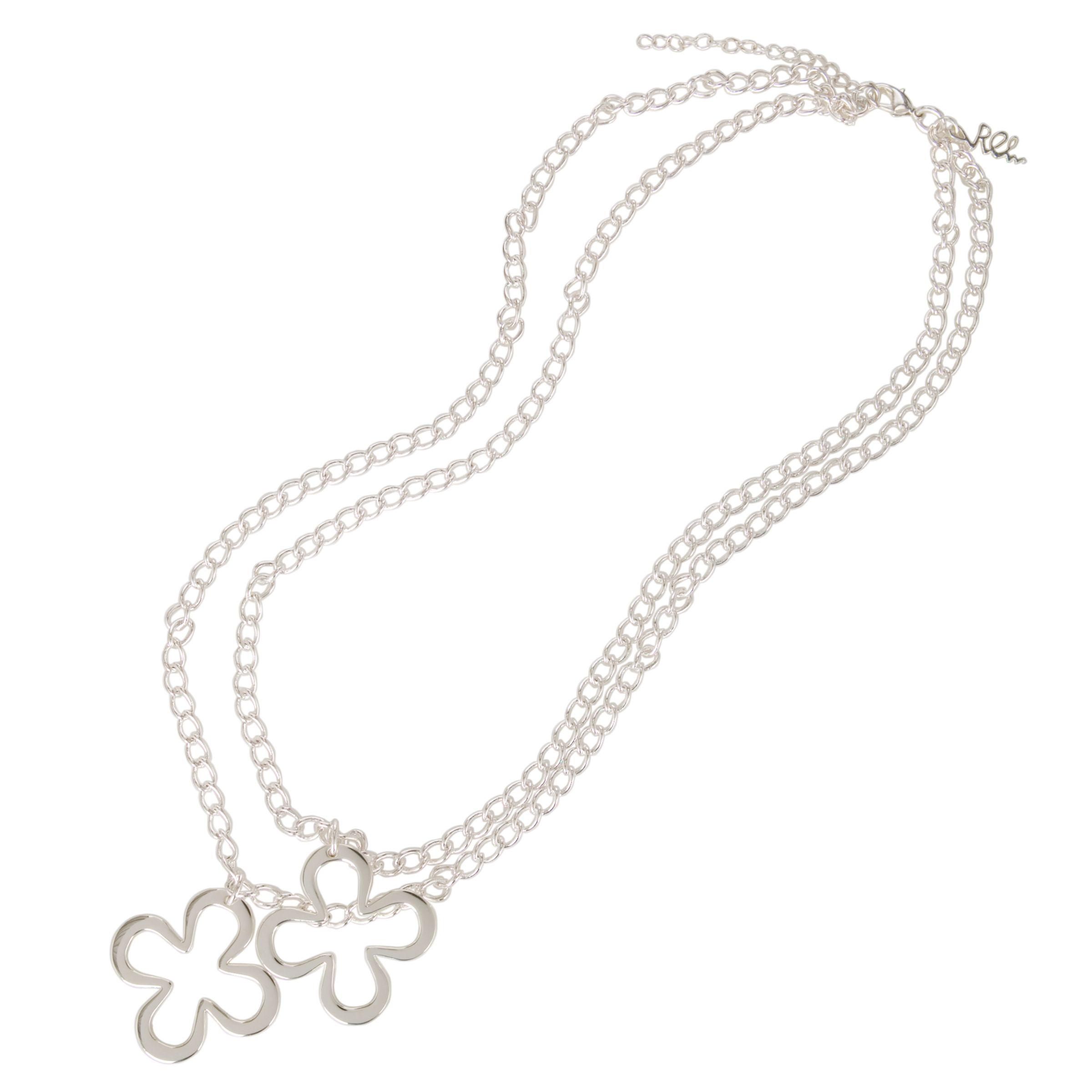 Renaissance Life Double Lucky Charm Necklace, Silver