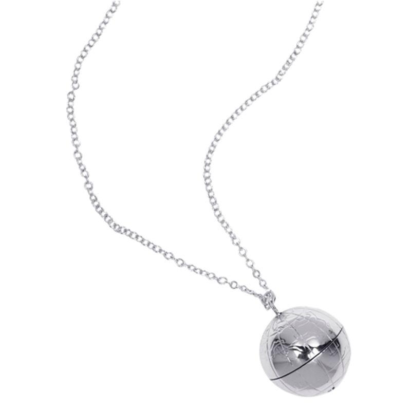 Renaissance Life Globe Necklace, Silver