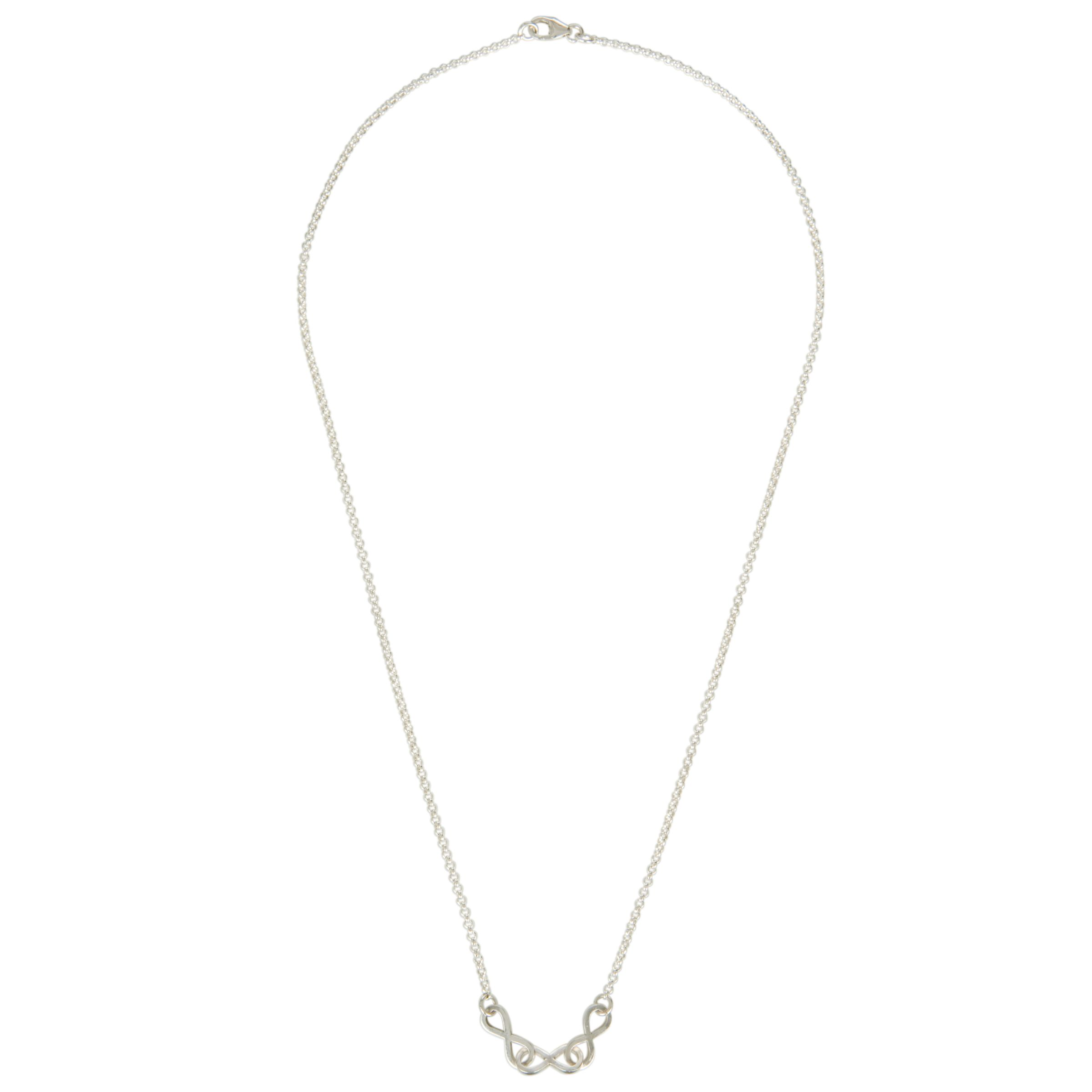 Renaissance Life Petite Eternity Necklace, Silver