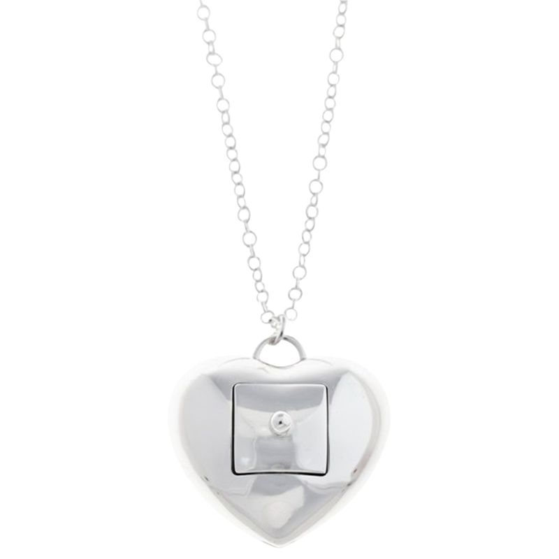 Renaissance Life Secret Heart With Box Necklace, Silver