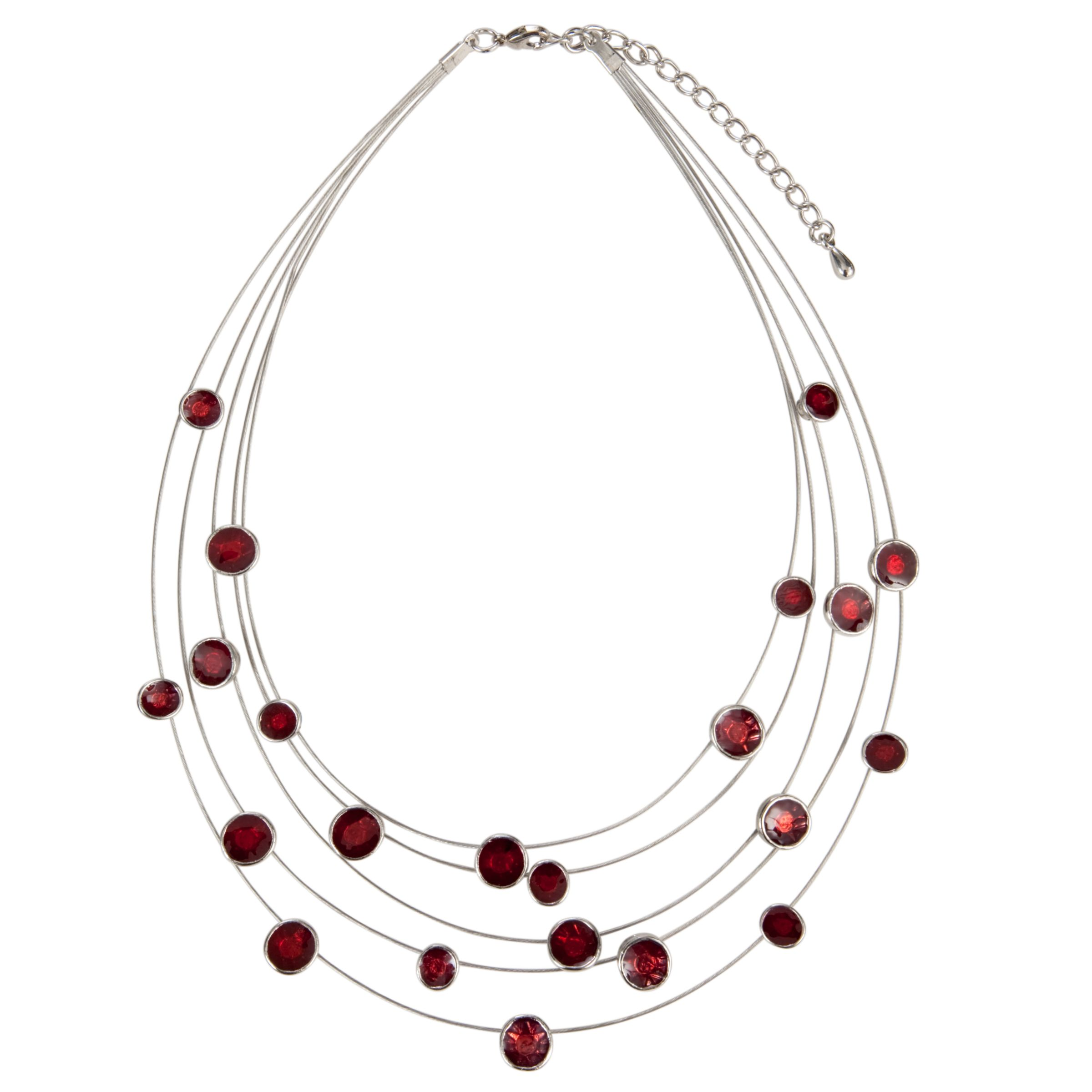 John Lewis Women 5-Row Illusion Necklace, Pink