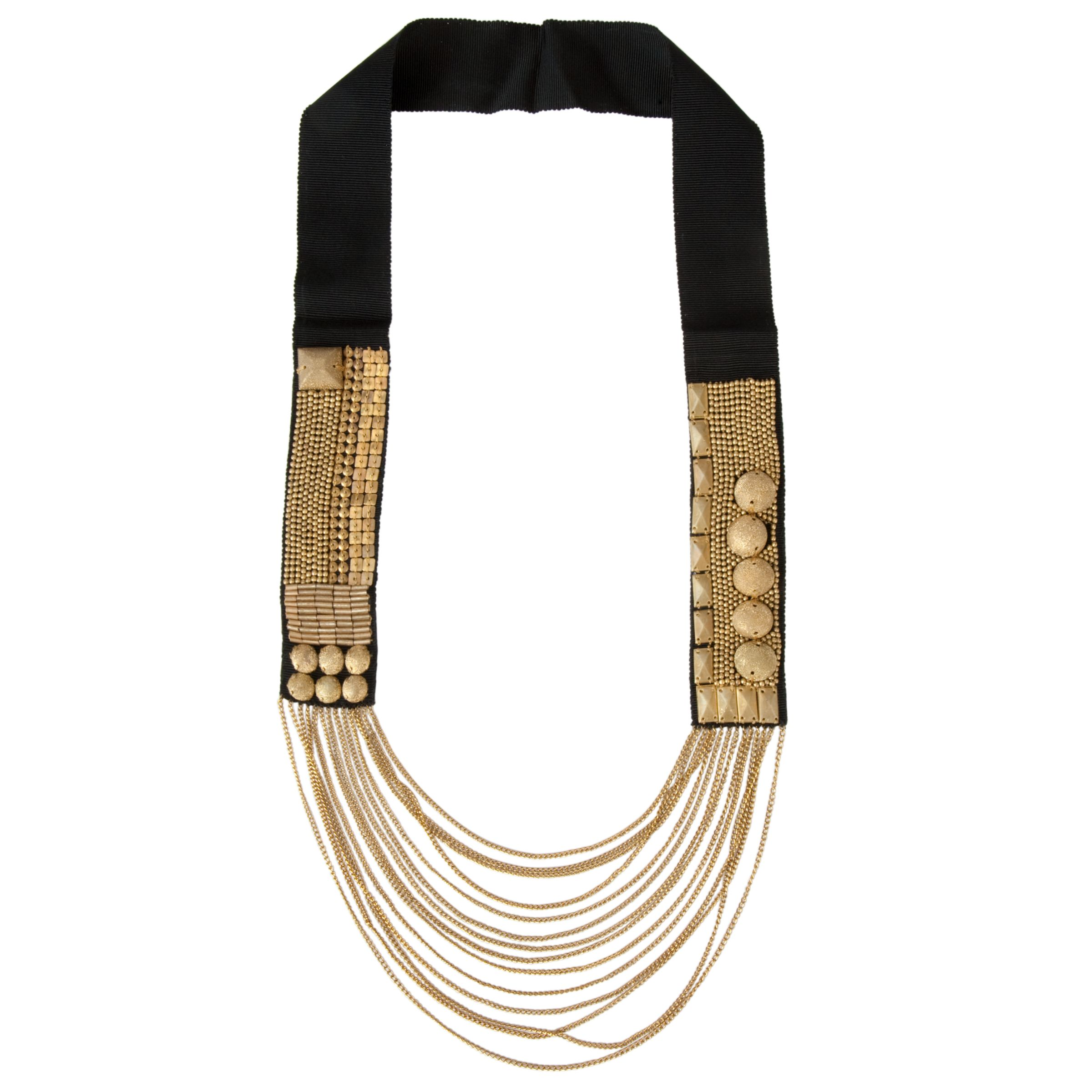 Fiona Paxton Beaded Chain Marjorie Necklace, Black/Gold