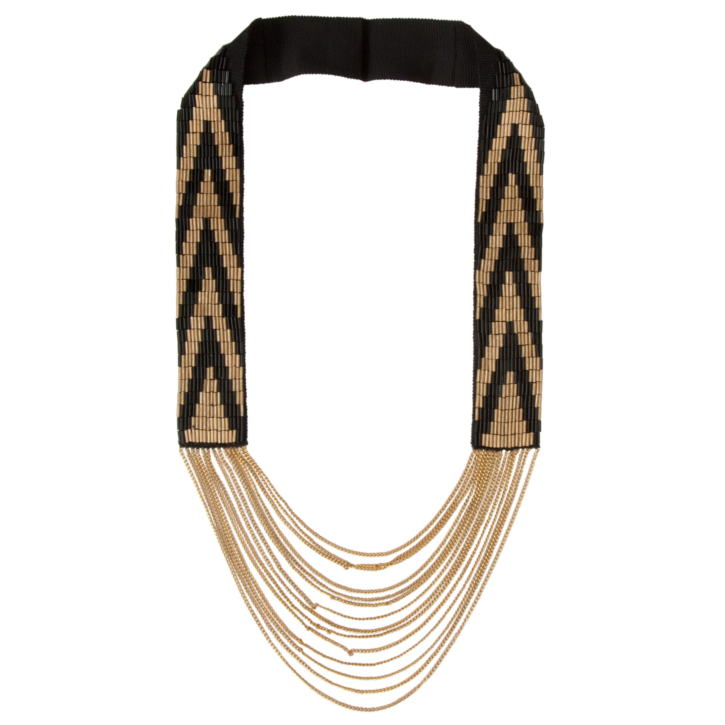 Fiona Paxton Cora Bead Necklace, Black/Gold