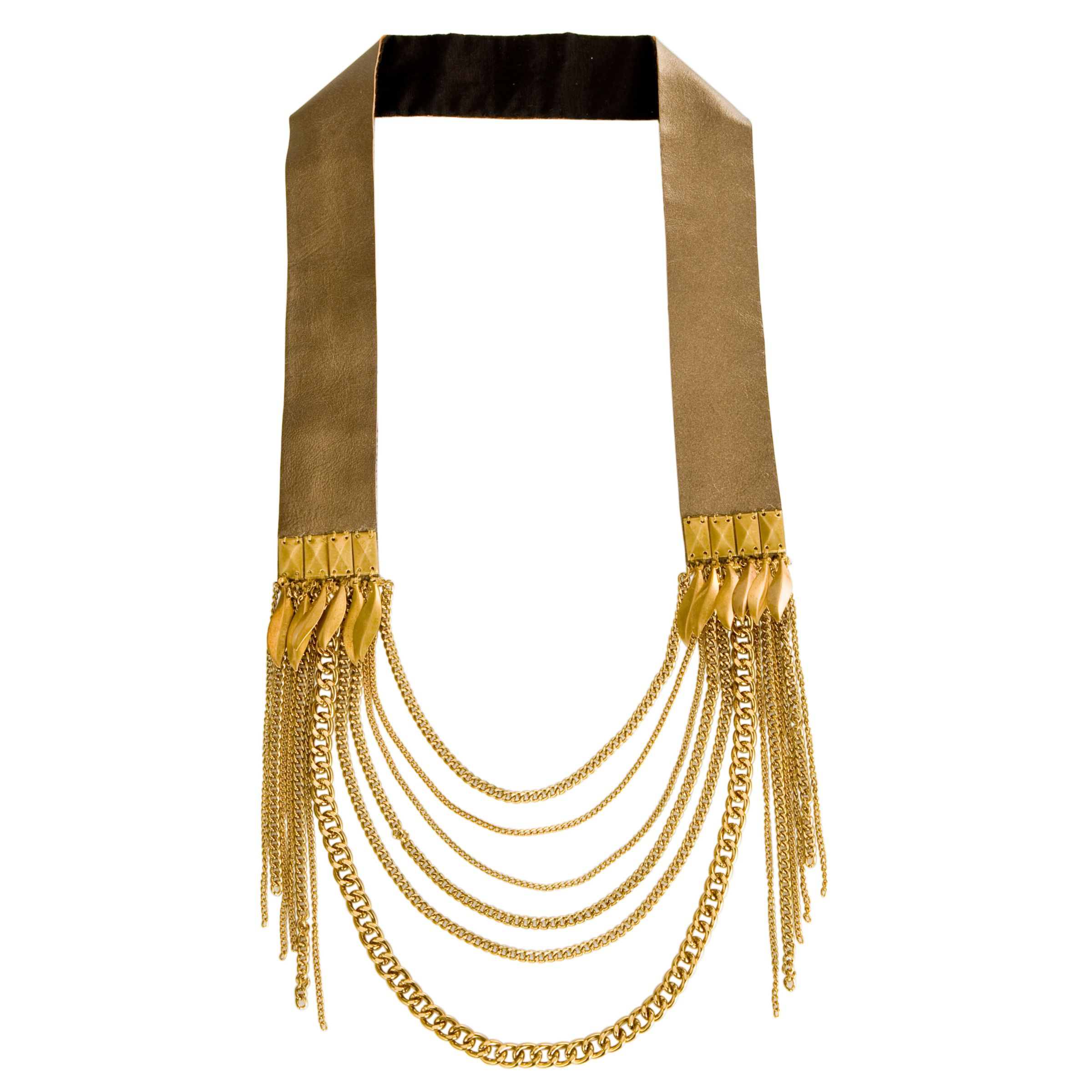 Fiona Paxton Florence Feather Chains Necklace, Gold