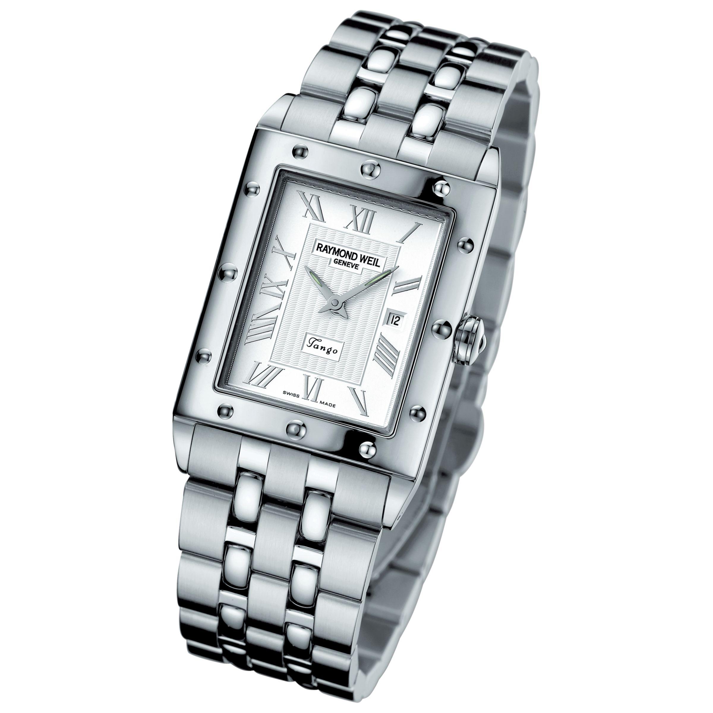 Raymond Weil 5381-ST-00658 Tango Silver Rectangular Bracelet Watch