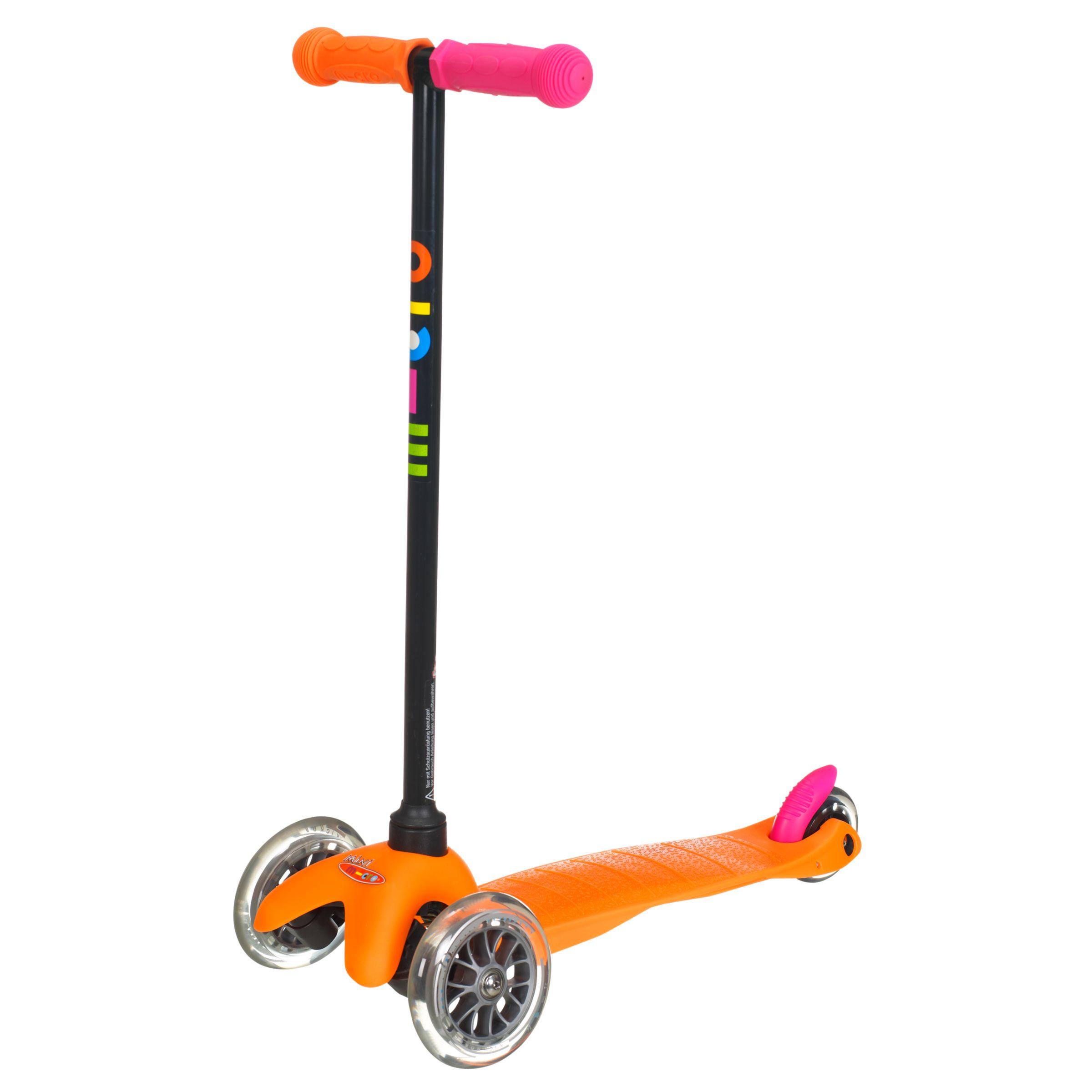 Mini Micro T-Bar Scooter, Neon Orange