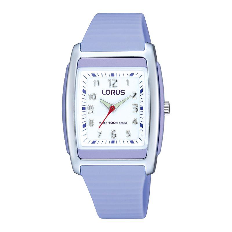Lorus RRX87CX9 Kids Unisex Silicone Strap Watch, Purple