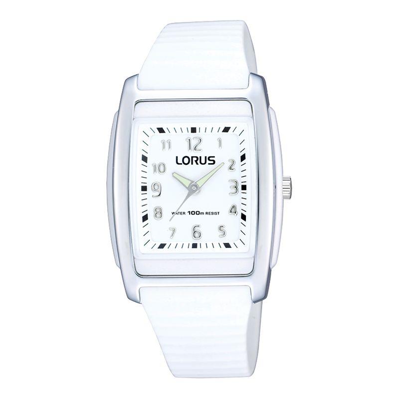Lorus RRX91CX9 Kids Unisex White Silicone Strap Watch