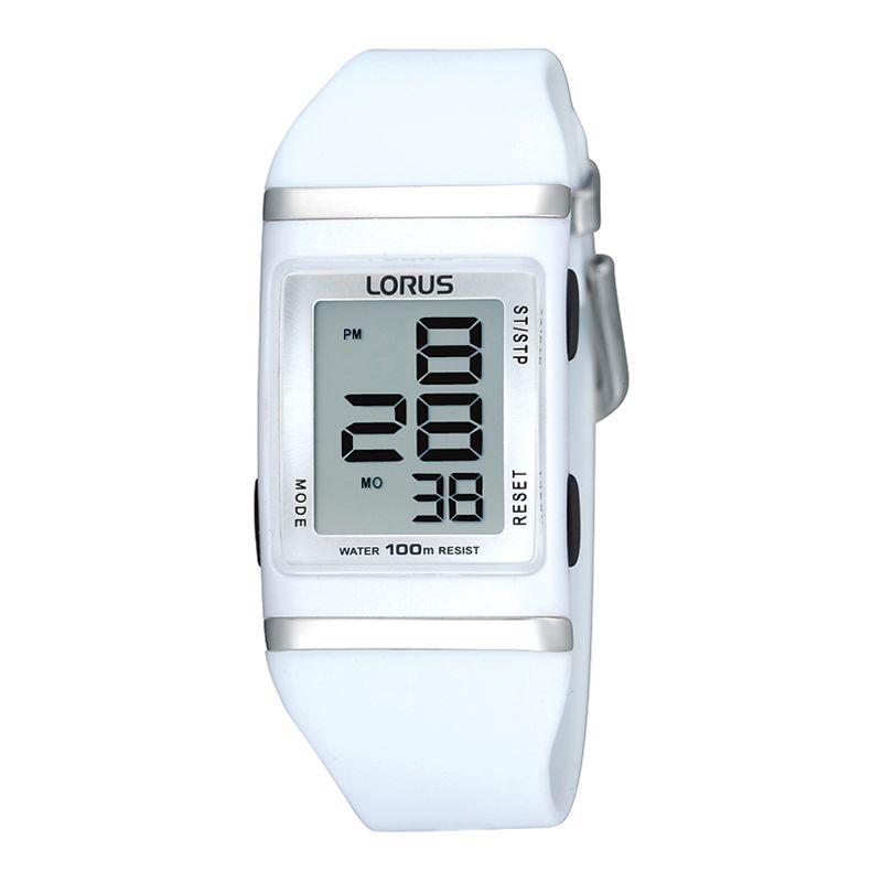 Lorus R2303EX9 Unisex Kids White Silicone Strap Watch