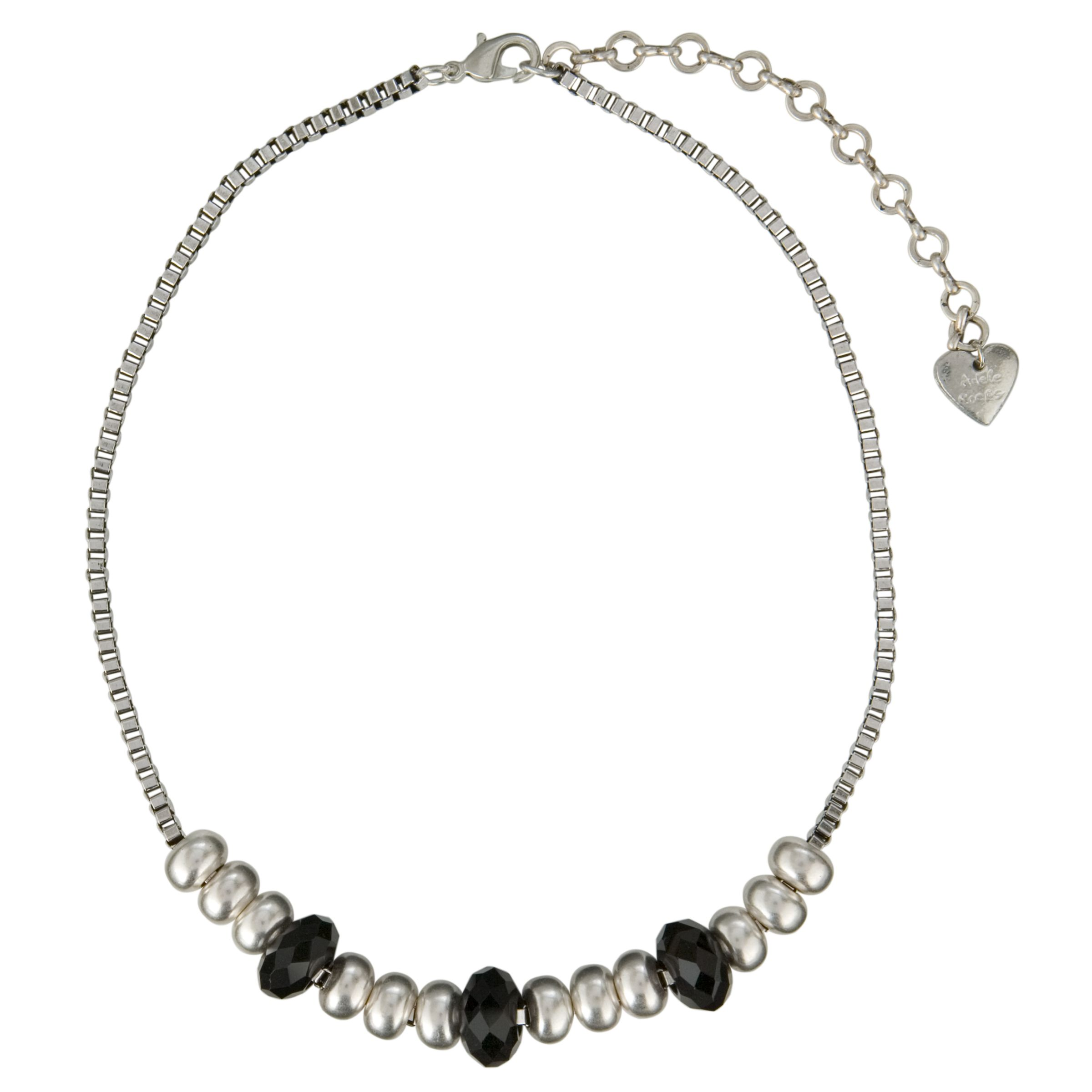 Adele Marie Black and Silver Bead Necklace